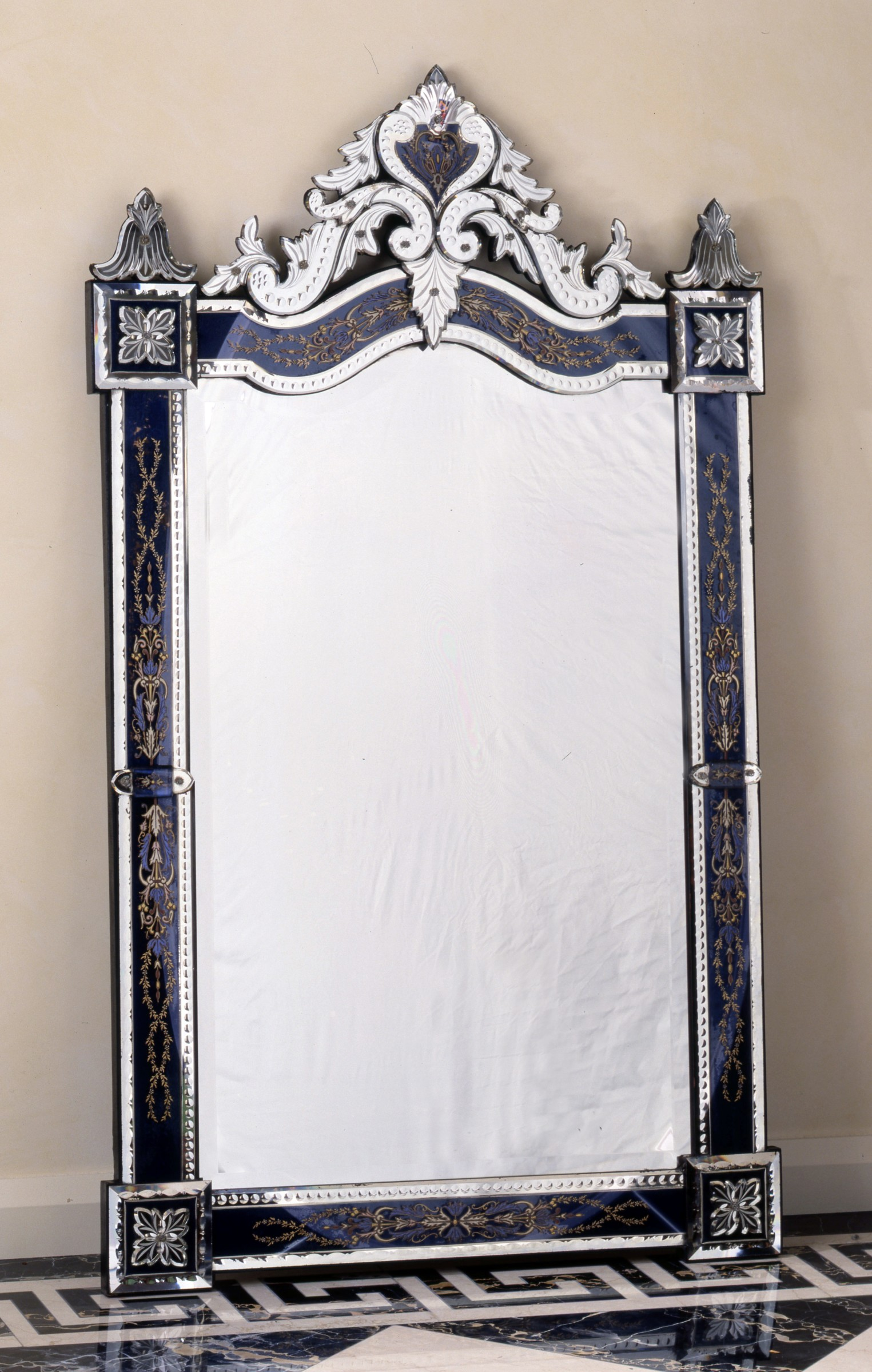 Murano A 19th Century Murano Venetian Wall Mirror Of Rectangular Form Murano Date Circa 1860 Richard Redding Antiques Ltd