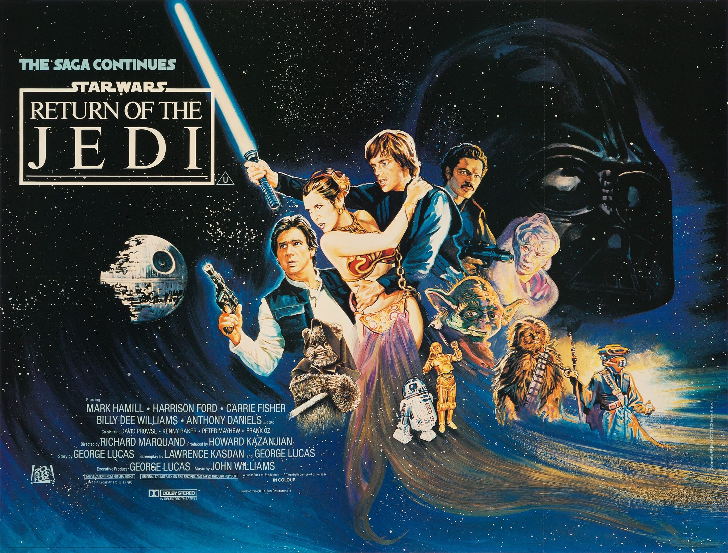 Josh Kirby Star Wars Return Of The Jedi 1983 Rock Paper Film