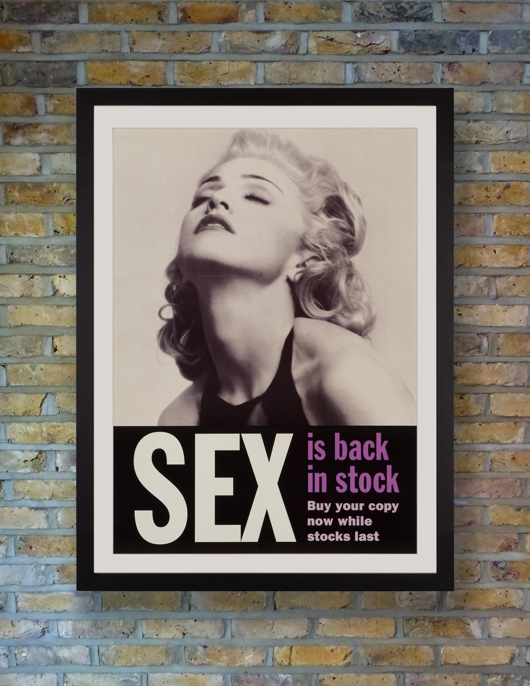 Madonna Sex Book Poster
