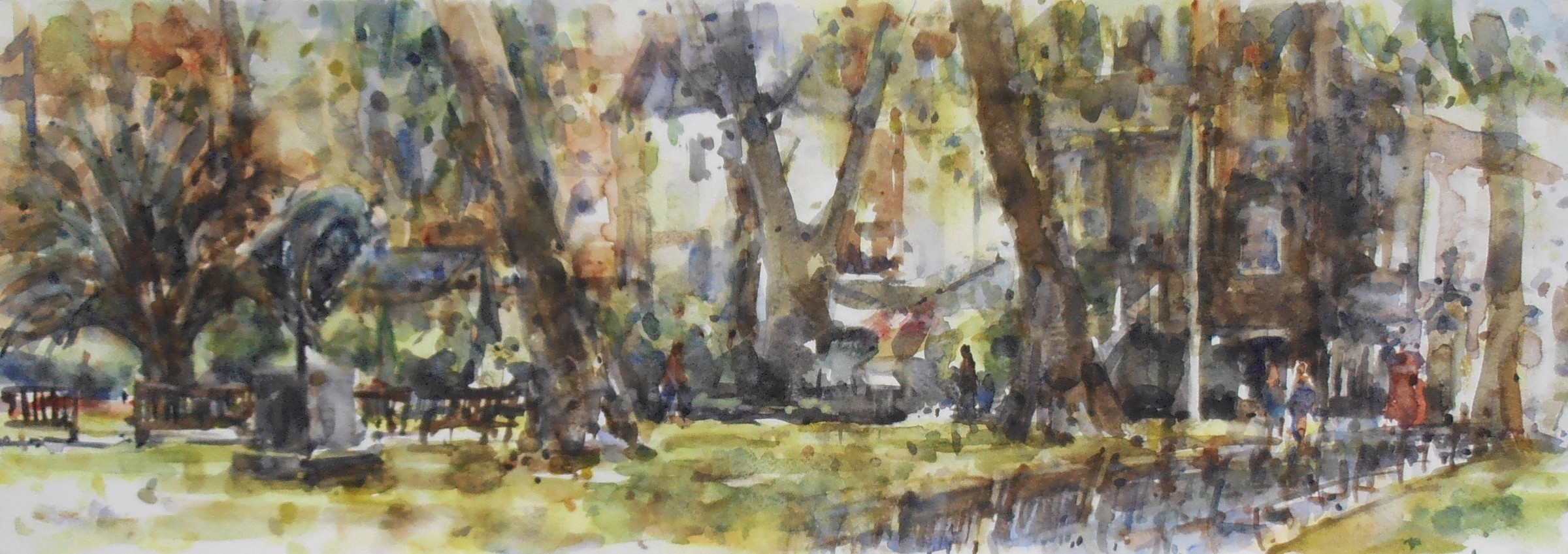 <span class=&#34;link fancybox-details-link&#34;><a href=&#34;/exhibitions/16/works/image_standalone308/&#34;>View Detail Page</a></span><p>Andrew Horrod, <em>Sunlight and shadows, Mount Street Gardens</em>, &#163;650</p>