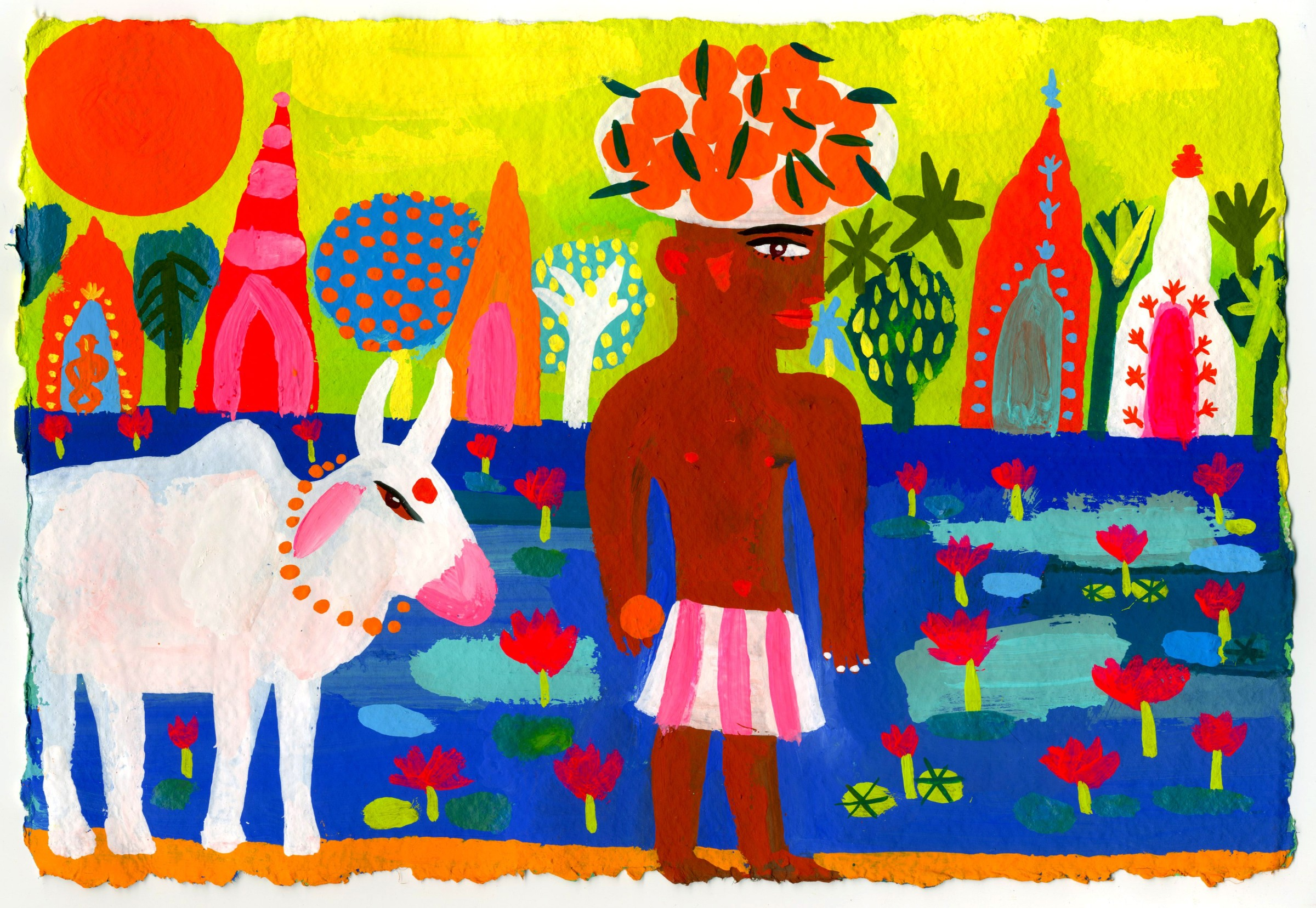 <span class=&#34;link fancybox-details-link&#34;><a href=&#34;/exhibitions/16/works/image_standalone326/&#34;>View Detail Page</a></span><p>Christopher Corr,&#160;<em>Man with Oranges and Sacred &#160;Cow,</em>&#160;&#163;600</p>