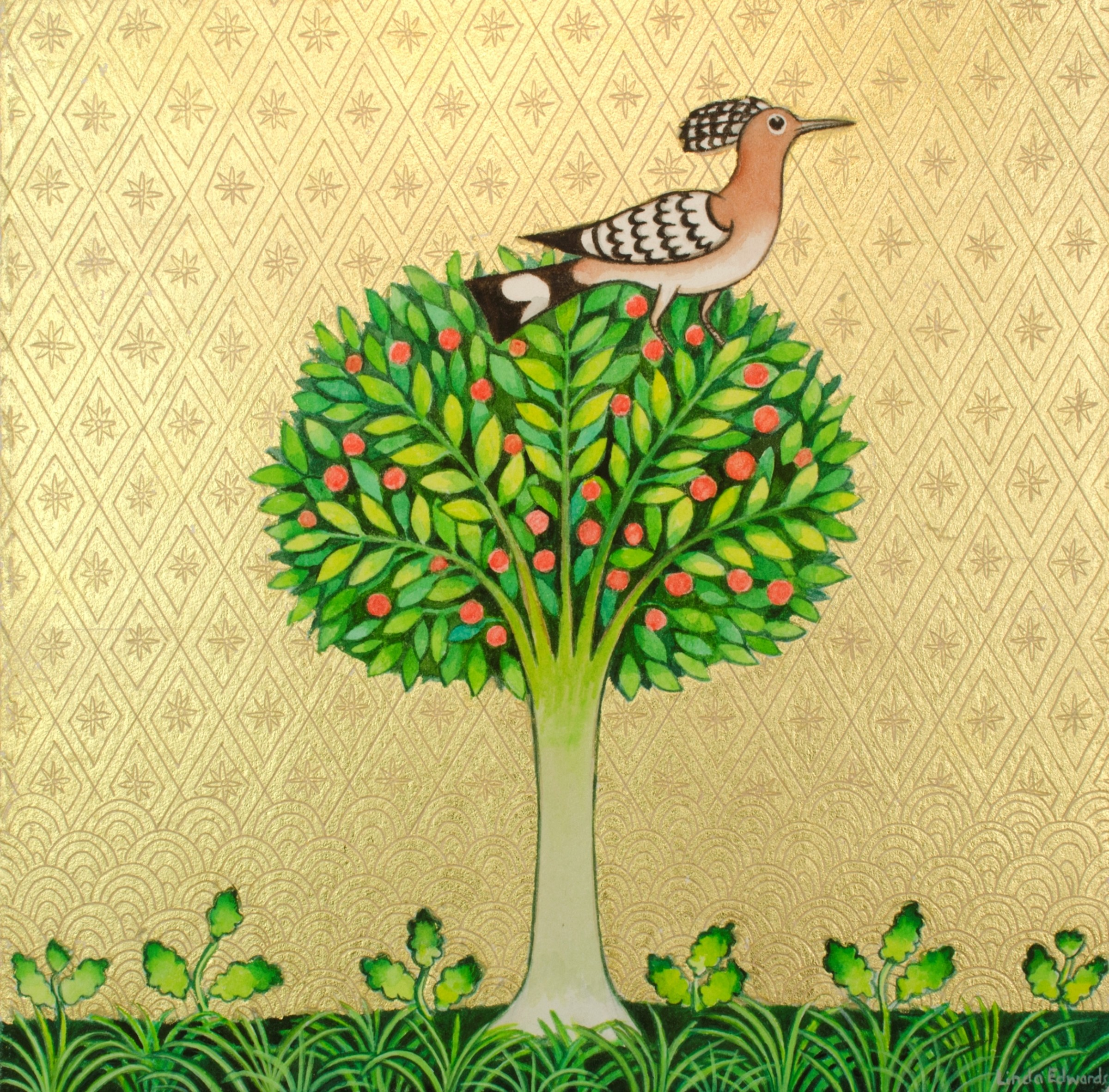 <span class=&#34;link fancybox-details-link&#34;><a href=&#34;/exhibitions/16/works/image_standalone374/&#34;>View Detail Page</a></span><p>Linda Edwards,&#160;<em>Hoopoe in Apple Tree</em>, &#163;550</p>