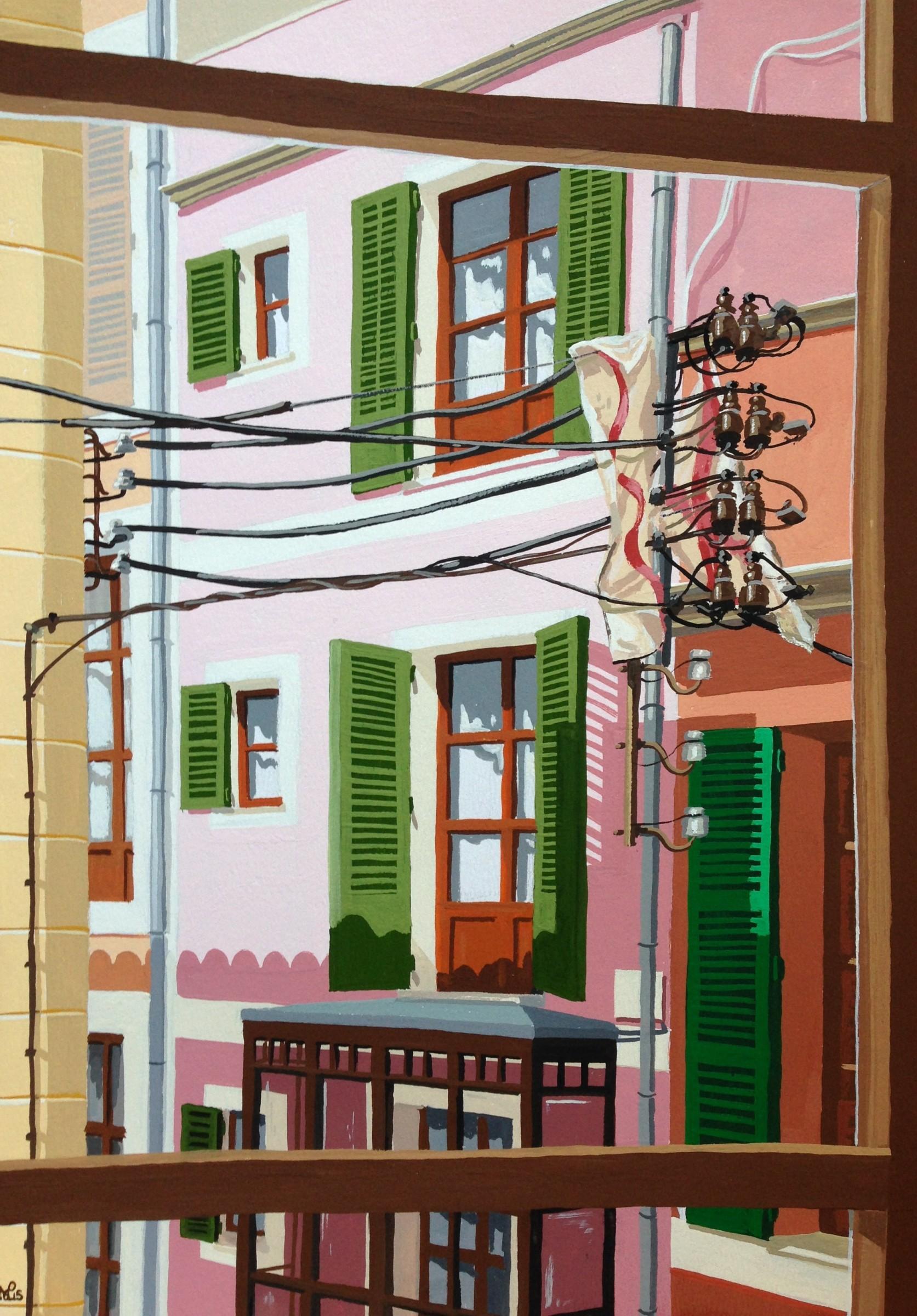 <span class=&#34;link fancybox-details-link&#34;><a href=&#34;/exhibitions/16/works/image_standalone388/&#34;>View Detail Page</a></span><p>Nicholas De Lacy-Brown,&#160;<em>Ocho Balcones (2): Old Town Cables, Palma,&#160;</em>&#163;750</p>