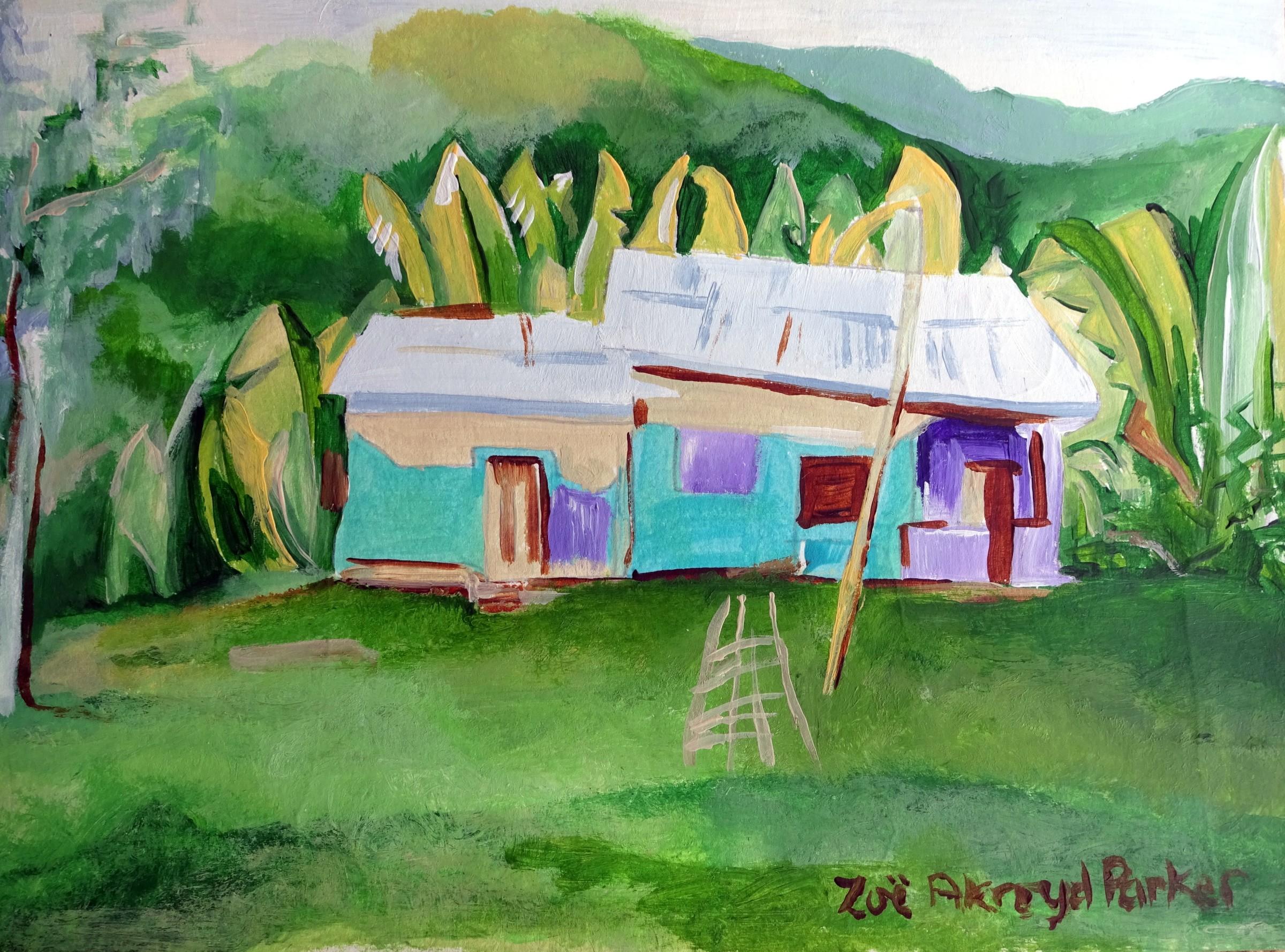 <span class=&#34;link fancybox-details-link&#34;><a href=&#34;/exhibitions/16/works/image_standalone416/&#34;>View Detail Page</a></span><p>Zoe Parker,&#160;<em>Little House, Big Banana Leaves,</em>&#160;&#163;250</p>