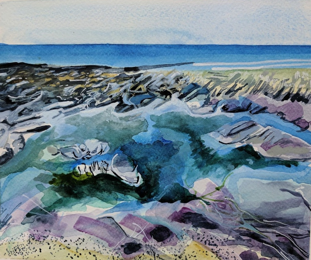 <span class=&#34;link fancybox-details-link&#34;><a href=&#34;/exhibitions/25/works/image_standalone603/&#34;>View Detail Page</a></span><p><span>Sophie Parr</span></p><p><em>Purple Rocks in Turquoise</em></p>