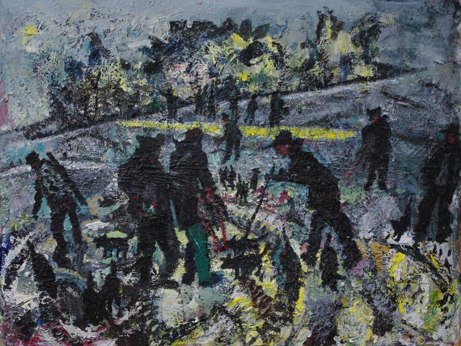 """<span class=""""link fancybox-details-link""""><a href=""""/exhibitions/36/works/image_standalone4820/"""">View Detail Page</a></span><p>John R Bradley</p><p><em>Winter Meet</em></p><p>acrylic</p><p>£1000</p><p></p><p>Judge's Choice</p><p>Selected by Kristian Day</p><p>Independent Gallerist & Curator</p>"""