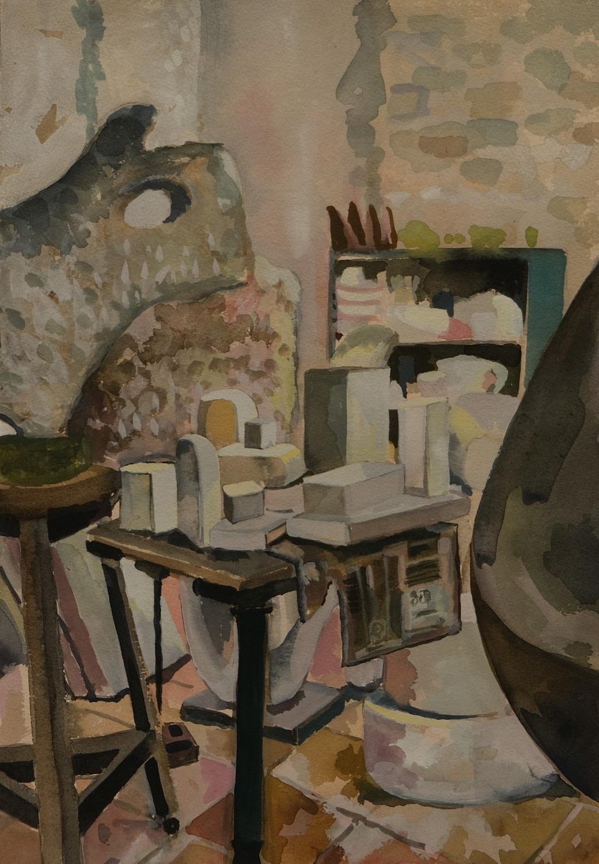 "<span class=""link fancybox-details-link""><a href=""/exhibitions/36/works/image_standalone4840/"">View Detail Page</a></span><p>Lottie Cole</p><p><em>Barbara Hepworth Studio, St Ives III</em></p><p>watercolour & gouache</p><p>£1450</p><p></p><p>Judge's Choice</p><p>Selected by Tim Sayer</p><p>Journalist & Art Collector</p>"