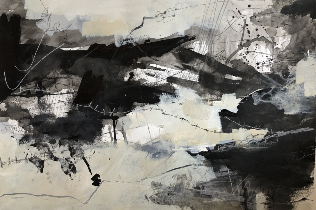 """<span class=""""link fancybox-details-link""""><a href=""""/exhibitions/36/works/image_standalone4842/"""">View Detail Page</a></span><p>Louise Fletcher</p><p><em>Walk Out to Winter</em></p><p>acrylic paint & ink</p><p>£375</p><p></p><p>Judge's Choice</p><p>Selected by Tim Sayer</p><p>Journalist & Art Collector</p><p></p><p>Judge's Choice</p><p>Selected by Jim Hunter VPRWS</p><p>RWS Artist & Junior Vice President</p>"""