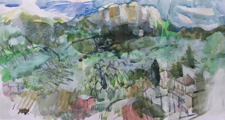 "<span class=""link fancybox-details-link""><a href=""/exhibitions/36/works/image_standalone4884/"">View Detail Page</a></span><p>Helen Riches</p><p><em>Farindola</em></p><p>ink, watercolour & gesso</p><p>£550</p>"