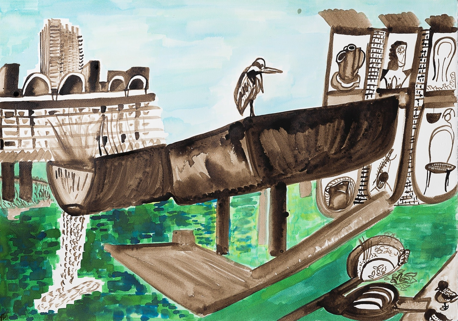 """<span class=""""link fancybox-details-link""""><a href=""""/exhibitions/36/works/image_standalone4901/"""">View Detail Page</a></span><p>Tamara Tolley</p><p><em>Bird's Eye View of the Barbican</em></p><p>walnut ink & watercolour</p><p>£1800</p><p></p><p>Judge's Choice</p><p>Selected by Kristian Day</p><p>Independent Gallerist & Curator</p>"""