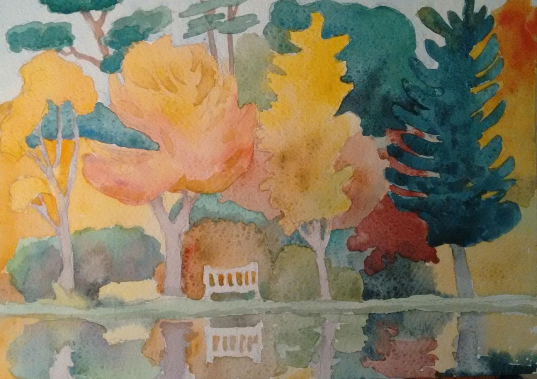 """<span class=""""link fancybox-details-link""""><a href=""""/exhibitions/36/works/image_standalone4903/"""">View Detail Page</a></span><p>Alison Warner</p><p><em>Arboretum</em></p><p>watercolour</p><p>£325</p><p></p><p>Judge's Choice</p><p>Selected by Jill Leman PRWS</p><p>RWS Artist & President</p>"""