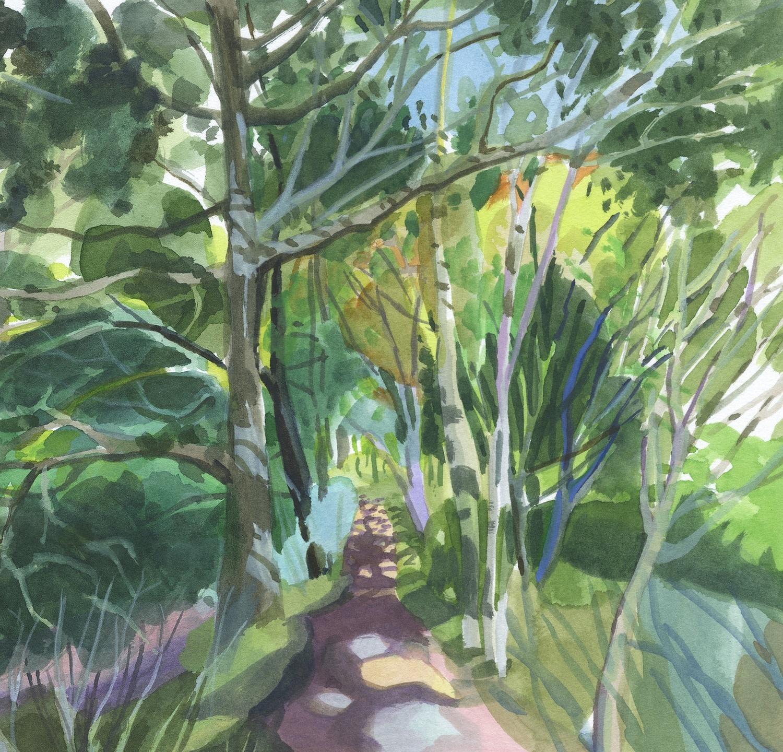 "<span class=""link fancybox-details-link""><a href=""/exhibitions/36/works/image_standalone4909/"">View Detail Page</a></span><p>Mary Woodin</p><p><em>Woodland Path</em></p><p>watercolour</p><p>£350</p>"