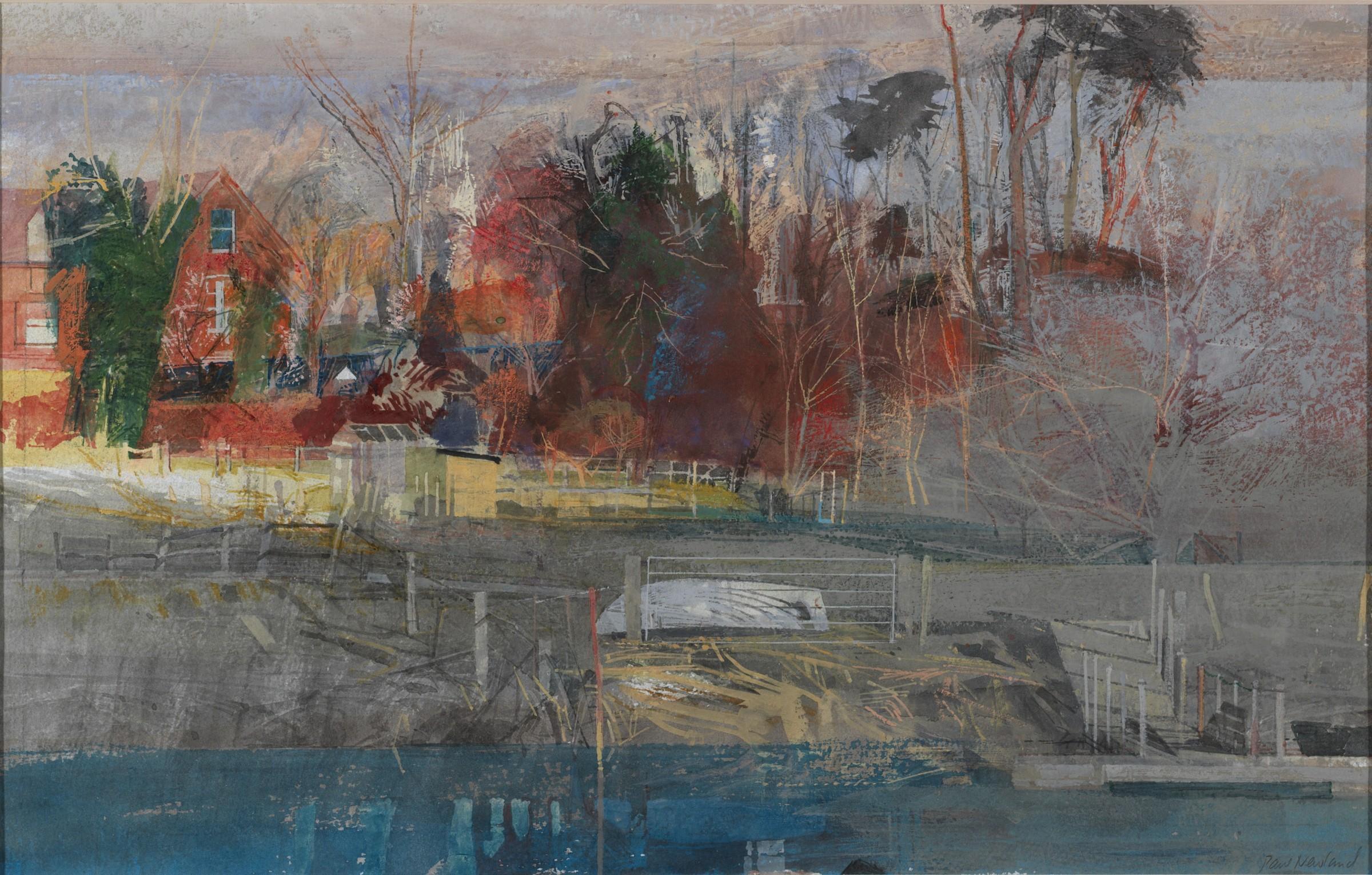 <span class=&#34;link fancybox-details-link&#34;><a href=&#34;/artists/87-paul-newland/works/10056-paul-newland-farm-by-the-river/&#34;>View Detail Page</a></span><div class=&#34;artist&#34;><span class=&#34;artist&#34;><strong>Paul Newland</strong></span></div><div class=&#34;title&#34;><em>Farm by the River</em></div><div class=&#34;medium&#34;>watercolour & gouache</div>