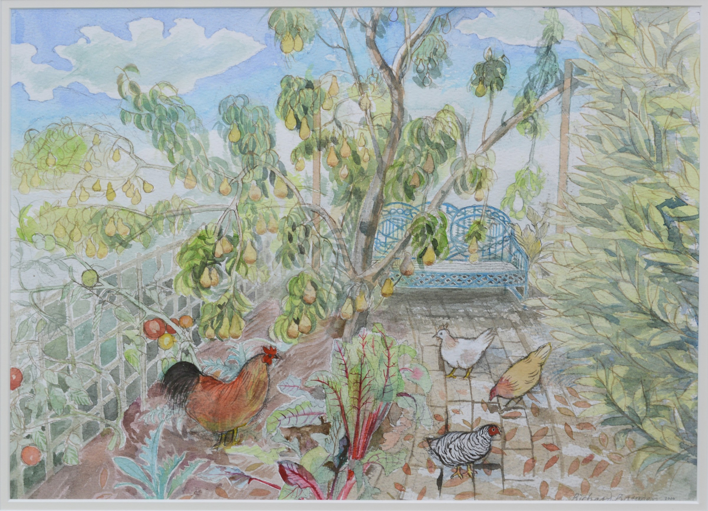 <span class=&#34;link fancybox-details-link&#34;><a href=&#34;/artists/38-richard-bawden/works/9465-richard-bawden-cock-and-three-hens/&#34;>View Detail Page</a></span><div class=&#34;artist&#34;><span class=&#34;artist&#34;><strong>Richard Bawden</strong></span></div>