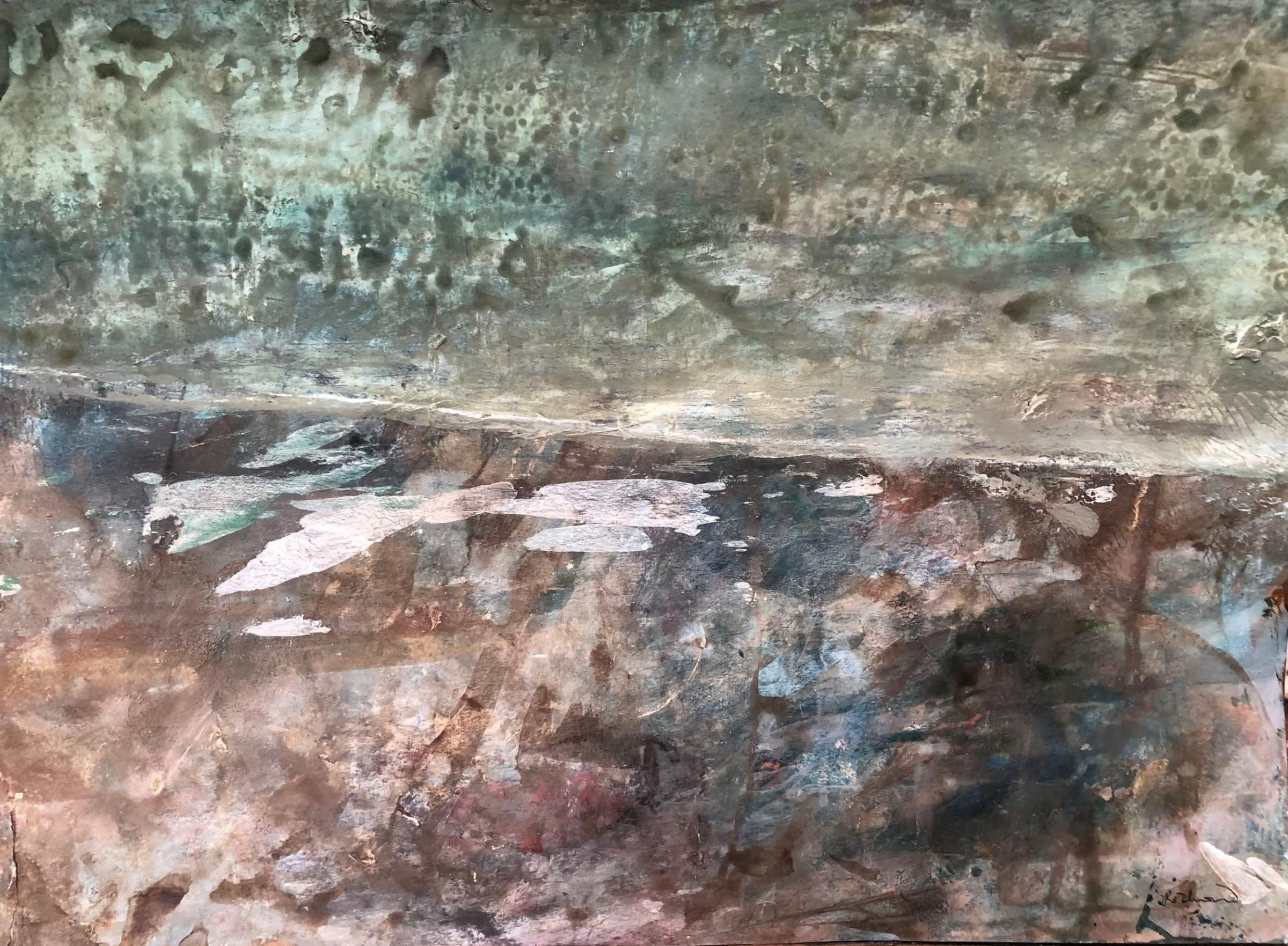 "<span class=""link fancybox-details-link""><a href=""/artists/171-robin-richmond/works/12527-robin-richmond-ice-puddles-and-snowstorm-france/"">View Detail Page</a></span><div class=""artist""><span class=""artist""><strong>Robin Richmond</strong></span></div><div class=""title""><em>Ice Puddles and Snowstorm, France</em></div><div class=""medium"">watercolour</div><div class=""dimensions"">Artwork: 42 x 30cm</div><div class=""price"">£450.00</div>"