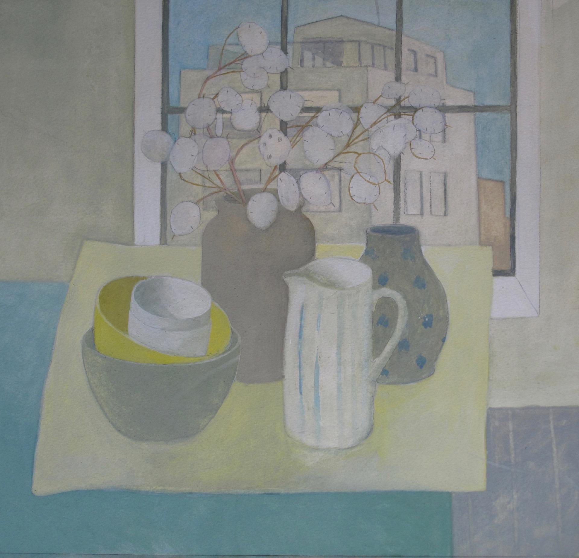 <span class=&#34;link fancybox-details-link&#34;><a href=&#34;/exhibitions/24/works/artworks_standalone10723/&#34;>View Detail Page</a></span><div class=&#34;artist&#34;><span class=&#34;artist&#34;><strong>Wendy Jacob</strong></span></div><div class=&#34;title&#34;><em>Still Life on a Blue Table</em></div><div class=&#34;medium&#34;>gouache</div><div class=&#34;dimensions&#34;>53x53cm</div>