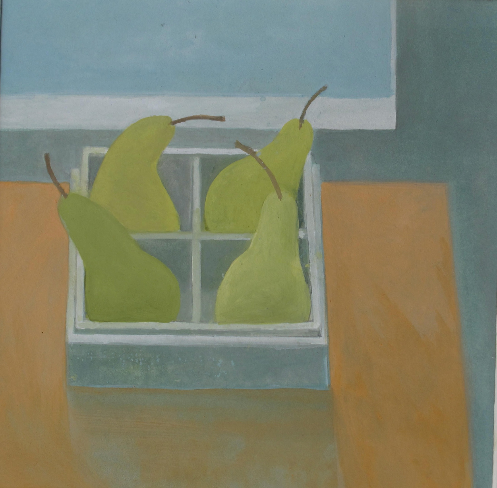 """<span class=""""link fancybox-details-link""""><a href=""""/artists/74-wendy-jacob/works/12239-wendy-jacob-four-pears-in-a-box/"""">View Detail Page</a></span><div class=""""artist""""><span class=""""artist""""><strong>Wendy Jacob</strong></span></div><div class=""""title""""><em>Four Pears in a Box</em></div><div class=""""medium"""">gouache</div><div class=""""dimensions"""">Frame: 33 x 33 cm<br /> Artwork: 20 x 19 cm</div><div class=""""price"""">£390.00</div>"""