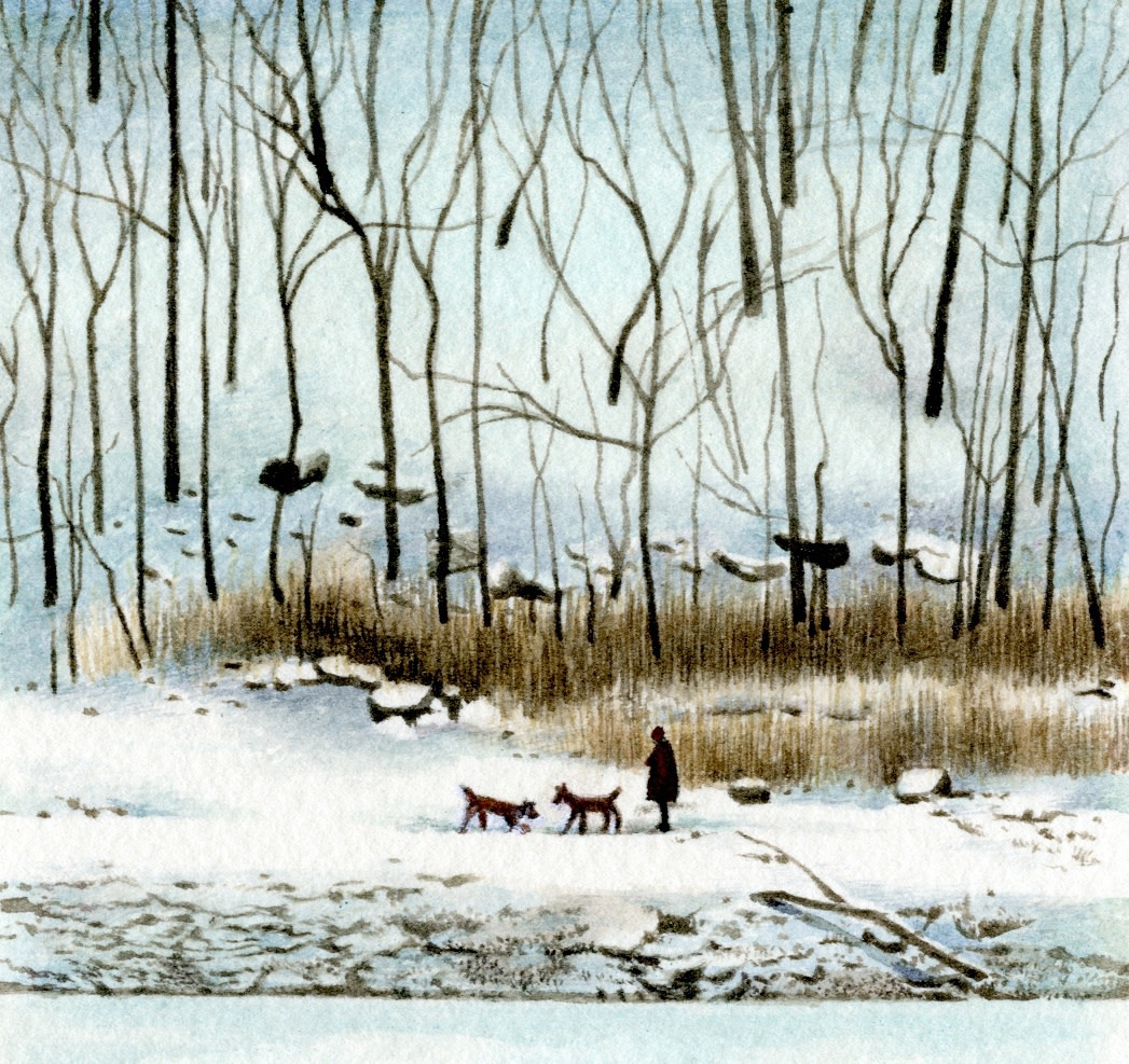"""<span class=""""link fancybox-details-link""""><a href=""""/artists/25-liz-butler/works/12211-liz-butler-walking-in-the-silence-of-the-snow/"""">View Detail Page</a></span><div class=""""artist""""><span class=""""artist""""><strong>Liz Butler</strong></span></div><div class=""""title""""><em>Walking in the Silence of the Snow</em></div><div class=""""medium"""">watercolour</div><div class=""""dimensions"""">Frame: 26 x 26 cm<br /> Artwork: 8.5 x 9 cm</div><div class=""""price"""">£500.00</div>"""