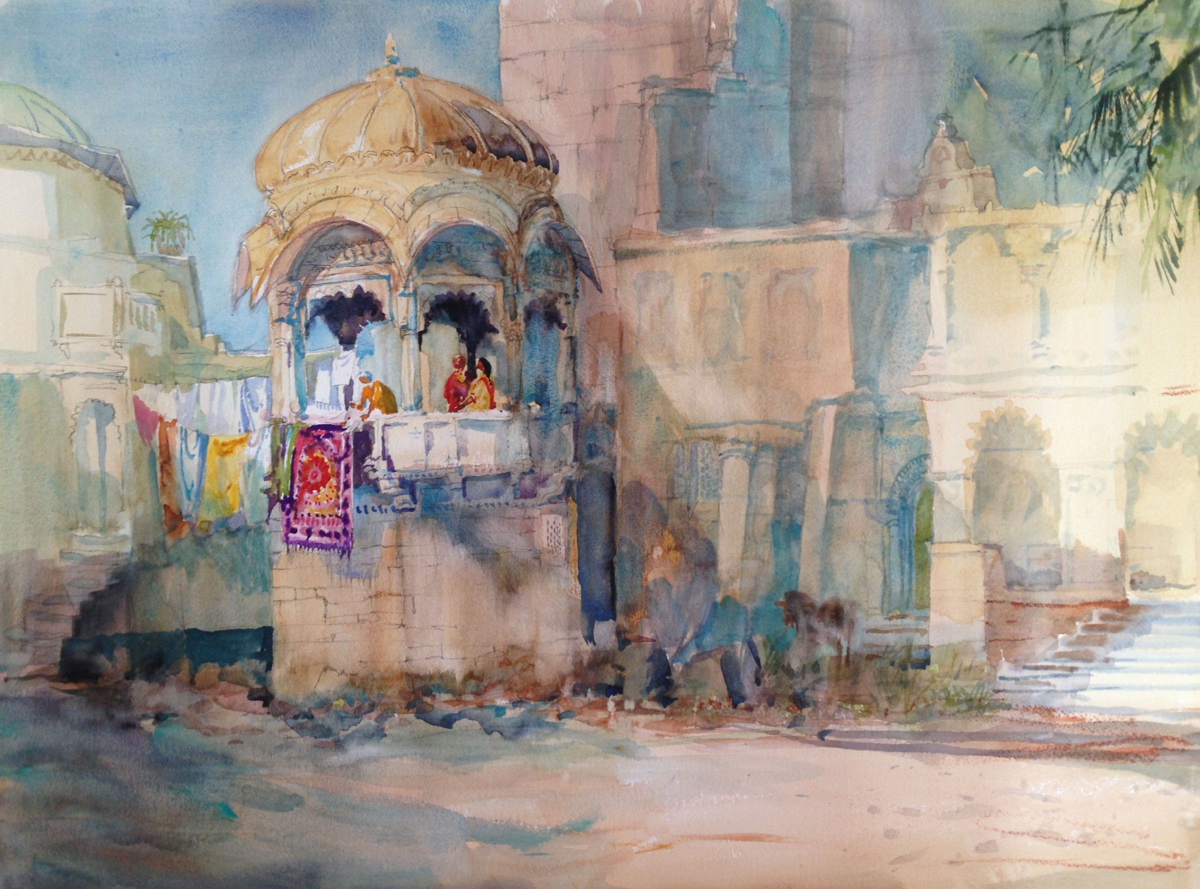 """<span class=""""link fancybox-details-link""""><a href=""""/artists/48-michael-chaplin/works/11533-michael-chaplin-washday-jaipur-india/"""">View Detail Page</a></span><div class=""""artist""""><span class=""""artist""""><strong>Michael Chaplin</strong></span></div><div class=""""title""""><em>Washday - Jaipur, India</em></div><div class=""""medium"""">watercolour</div><div class=""""price"""">£2,750.00</div>"""