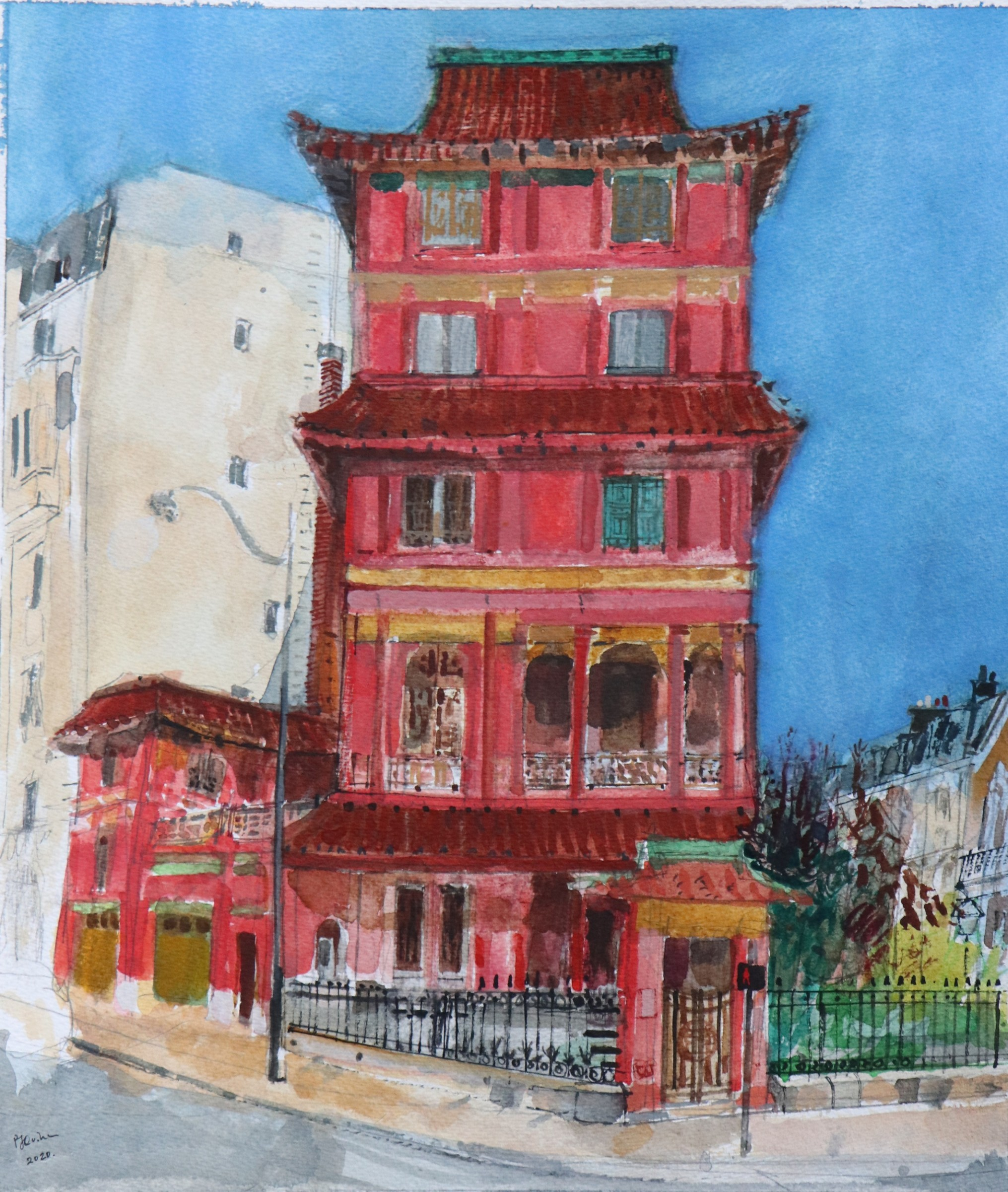 "<span class=""link fancybox-details-link""><a href=""/artists/96-peter-quinn/works/12295-peter-quinn-paris-pagoda/"">View Detail Page</a></span><div class=""artist""><span class=""artist""><strong>Peter Quinn</strong></span></div><div class=""title""><em>Paris Pagoda</em></div><div class=""medium"">watercolour on paper</div><div class=""dimensions"">Frame: 59 x 50 cm<br /> </div><div class=""price"">£600.00</div>"