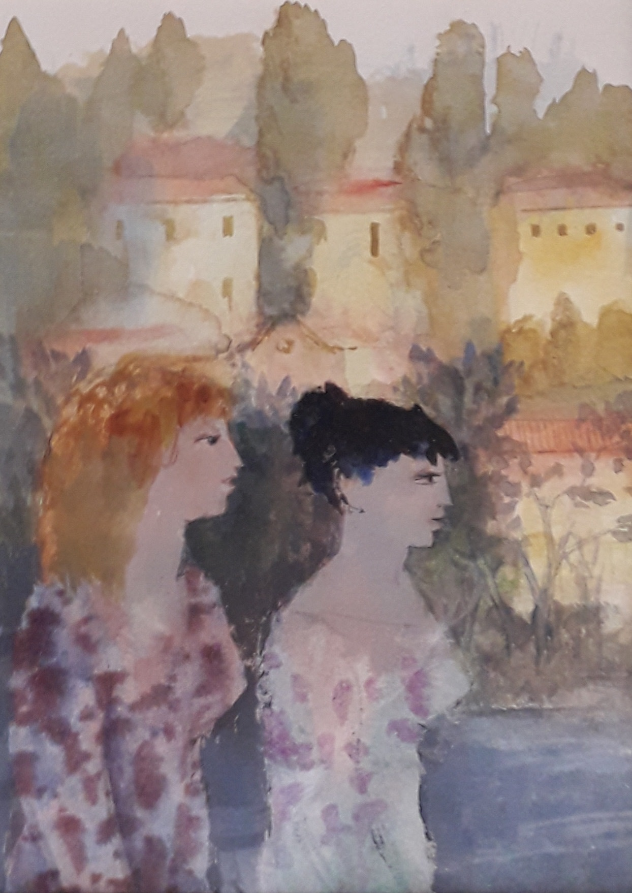 """<span class=""""link fancybox-details-link""""><a href=""""/artists/103-richard-sorrell/works/12319-richard-sorrell-two-ladies-in-verona/"""">View Detail Page</a></span><div class=""""artist""""><span class=""""artist""""><strong>Richard Sorrell</strong></span></div><div class=""""title""""><em>Two Ladies in Verona</em></div><div class=""""medium"""">watercolour<br /> </div><div class=""""dimensions"""">Frame: 54 x 43 cm<br /> Artwork: 38 x 27 cm</div><div class=""""price"""">£900.00</div>"""