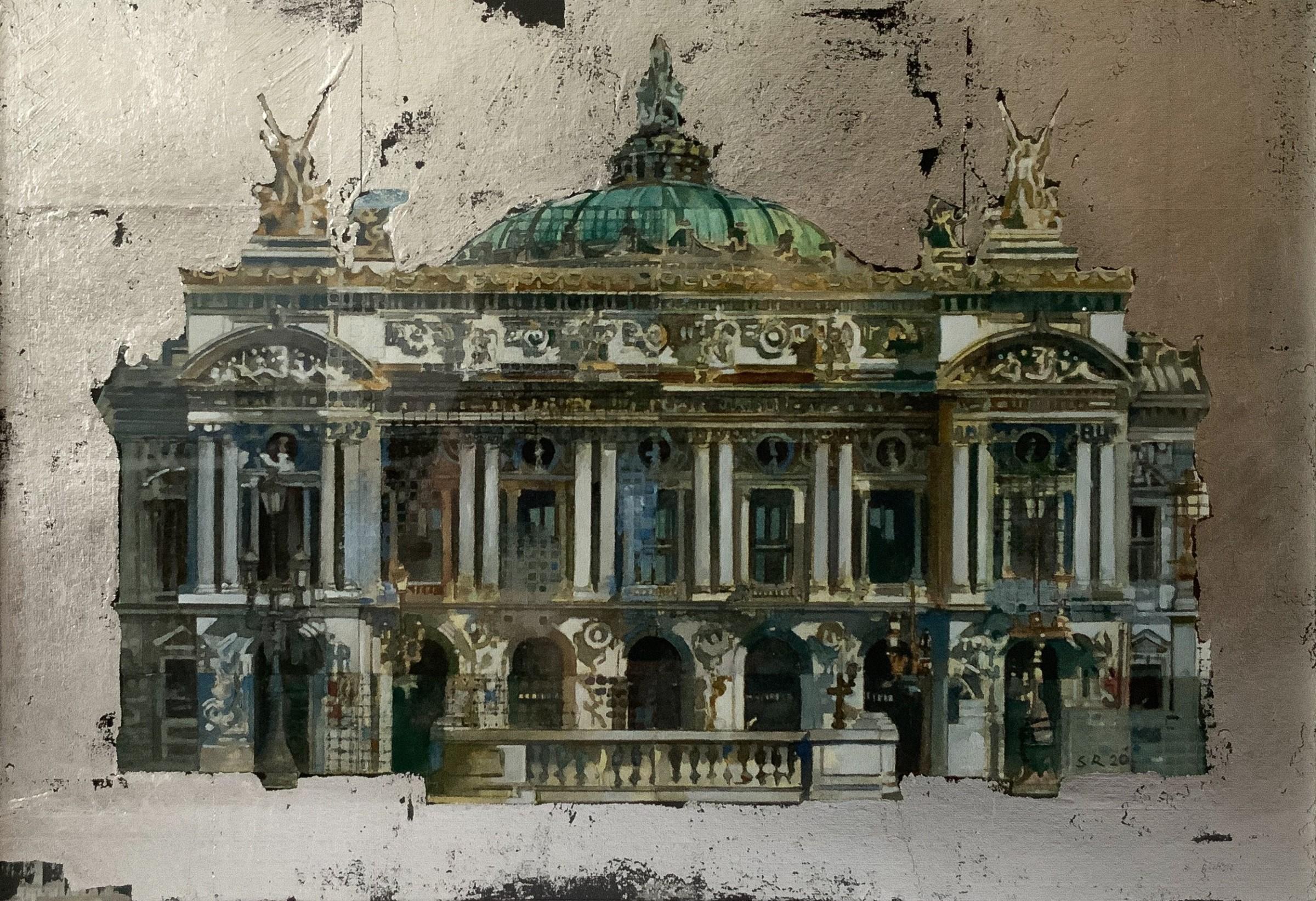 """<span class=""""link fancybox-details-link""""><a href=""""/artists/98-stuart-robertson/works/12166-stuart-robertson-paris-opera-house/"""">View Detail Page</a></span><div class=""""artist""""><span class=""""artist""""><strong>Stuart Robertson</strong></span></div><div class=""""title""""><em>Paris Opera House</em></div><div class=""""medium"""">watercolour & silver leaf</div><div class=""""dimensions"""">Frame: 45 x 54 cm<br /> Artwork: 23 x 33 cm</div><div class=""""price"""">£700.00</div>"""
