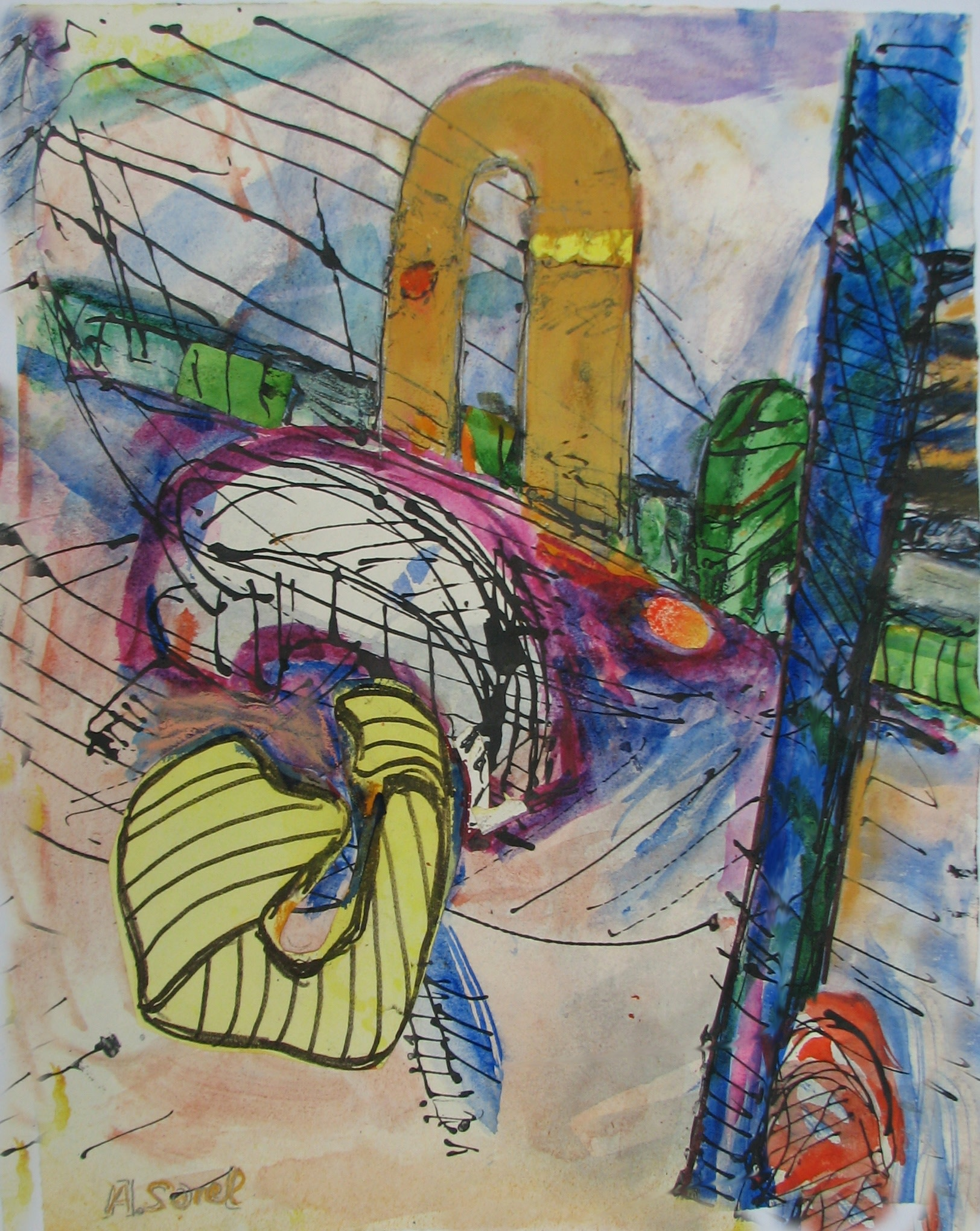 <span class=&#34;link fancybox-details-link&#34;><a href=&#34;/exhibitions/24/works/artworks_standalone10801/&#34;>View Detail Page</a></span><div class=&#34;artist&#34;><span class=&#34;artist&#34;><strong>Agathe Sorel</strong></span></div><div class=&#34;title&#34;><em>Studio in Morning Light</em></div><div class=&#34;medium&#34;>watercolour & collage</div><div class=&#34;dimensions&#34;>65x54cm</div>
