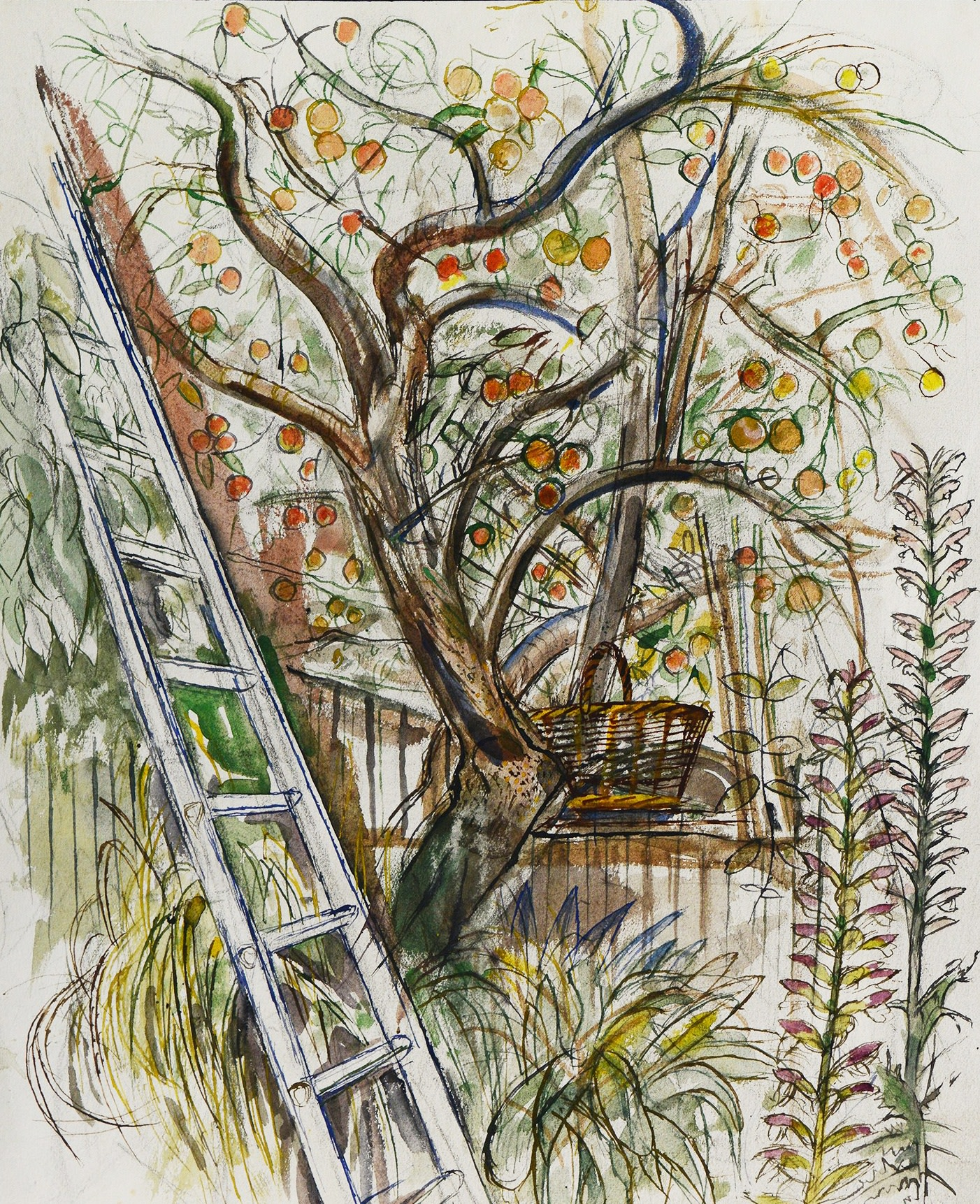 <span class=&#34;link fancybox-details-link&#34;><a href=&#34;/artists/38-richard-bawden/works/10514-richard-bawden-apple-picking/&#34;>View Detail Page</a></span><div class=&#34;artist&#34;><span class=&#34;artist&#34;><strong>Richard Bawden</strong></span></div>