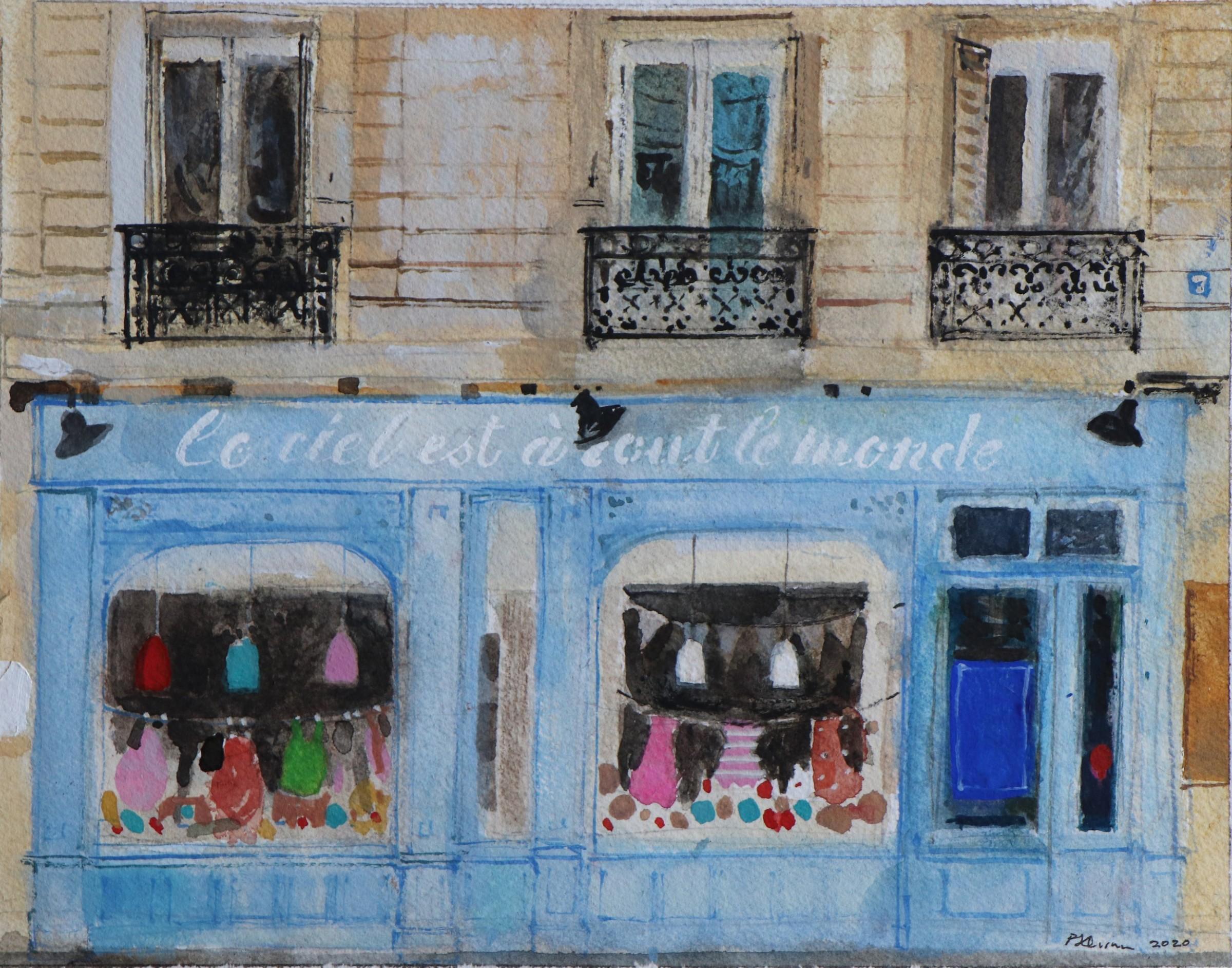 "<span class=""link fancybox-details-link""><a href=""/artists/96-peter-quinn/works/12296-peter-quinn-paris-shop/"">View Detail Page</a></span><div class=""artist""><span class=""artist""><strong>Peter Quinn</strong></span></div><div class=""title""><em>Paris, Shop</em></div><div class=""medium"">watercolour on paper</div><div class=""dimensions"">Frame: 40 x 46 cm<br /> </div><div class=""price"">£450.00</div>"