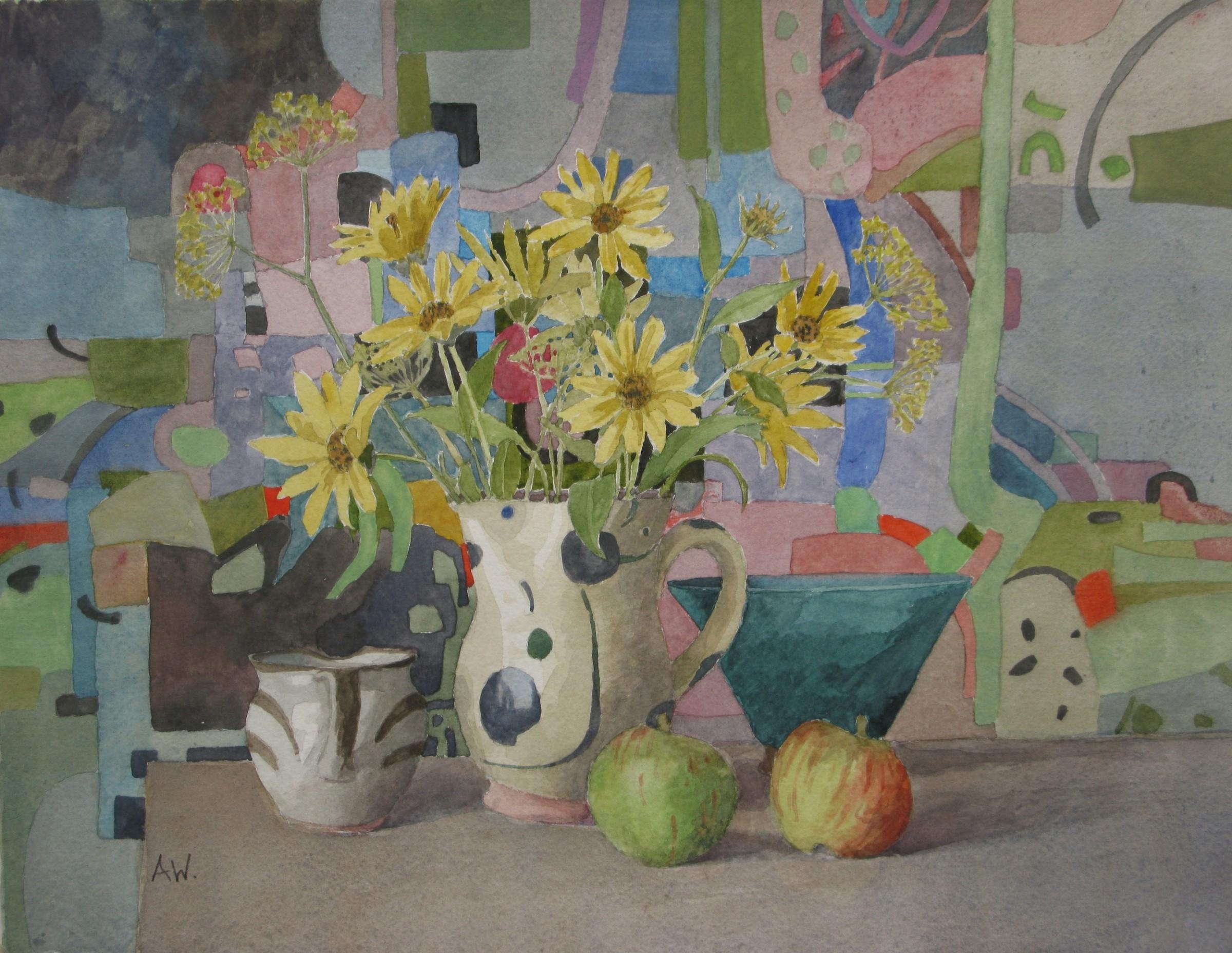 "<span class=""link fancybox-details-link""><a href=""/artists/109-annie-williams/works/12617-annie-williams-prairie-sunflowers/"">View Detail Page</a></span><div class=""artist""><span class=""artist""><strong>Annie Williams</strong></span></div><div class=""title""><em>Prairie Sunflowers</em></div><div class=""medium"">watercolour</div><div class=""dimensions"">Artwork: 35 x 27cm</div><div class=""price"">£400.00</div>"