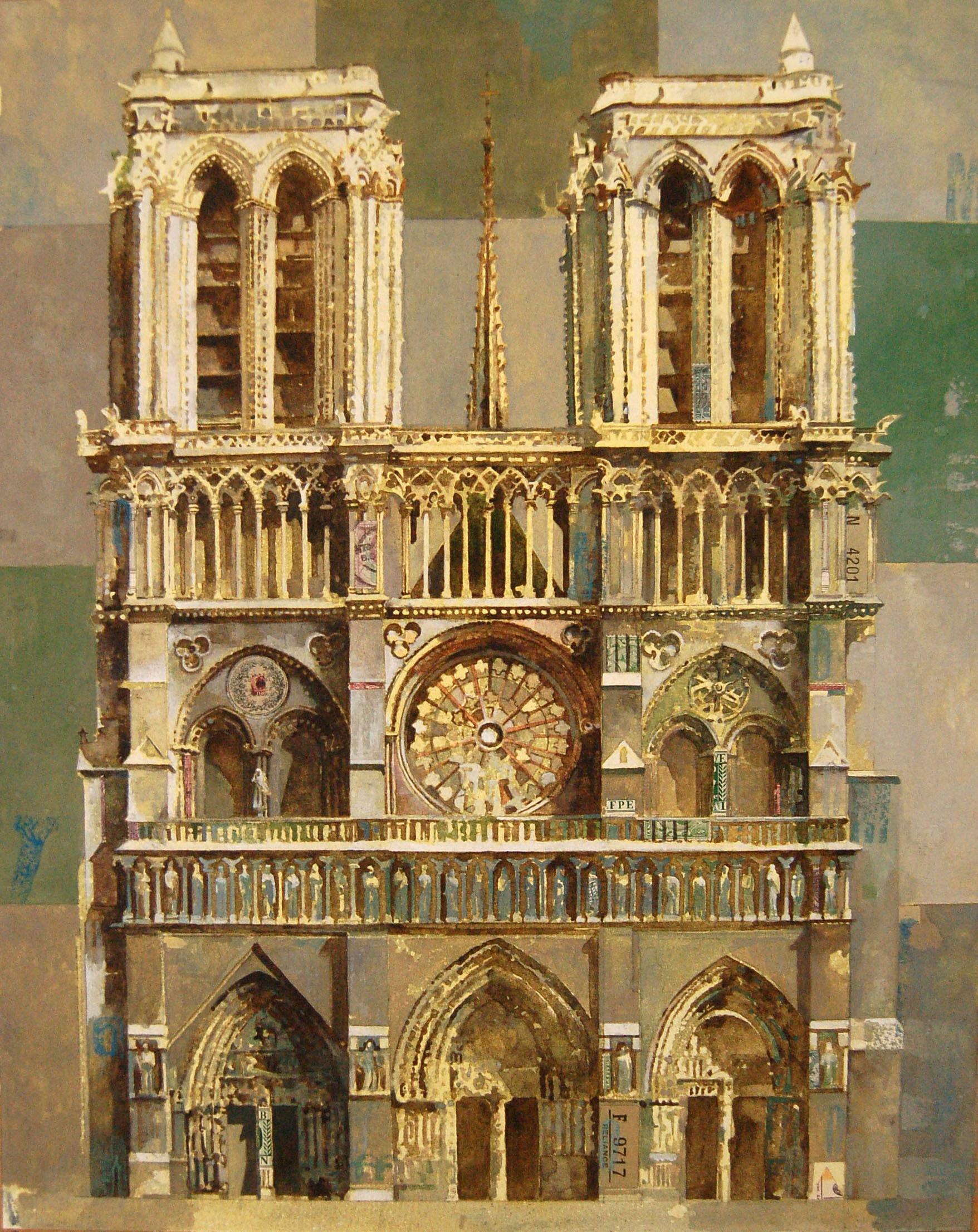 <span class=&#34;link fancybox-details-link&#34;><a href=&#34;/exhibitions/24/works/artworks_standalone10791/&#34;>View Detail Page</a></span><div class=&#34;artist&#34;><span class=&#34;artist&#34;><strong>Stuart Robertson</strong></span></div><div class=&#34;title&#34;><em>Notre Dame</em></div><div class=&#34;medium&#34;>watercolour, gouache & collage</div><div class=&#34;dimensions&#34;>70x60cm</div>