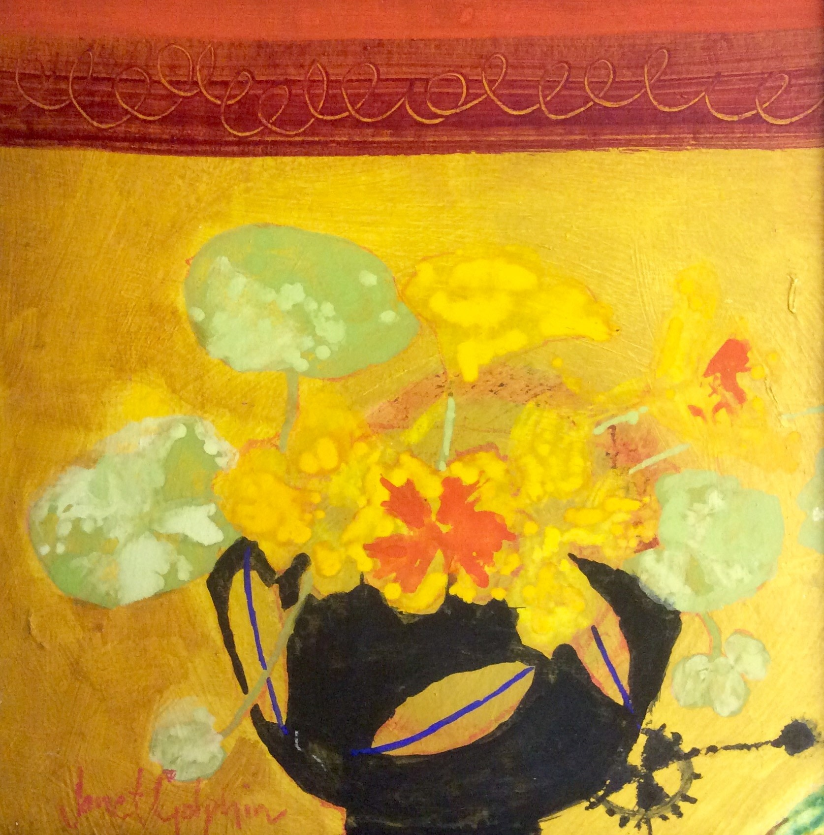 Janet Golphin, Nasturtiums | Off The Wall | Royal Watercolour Society