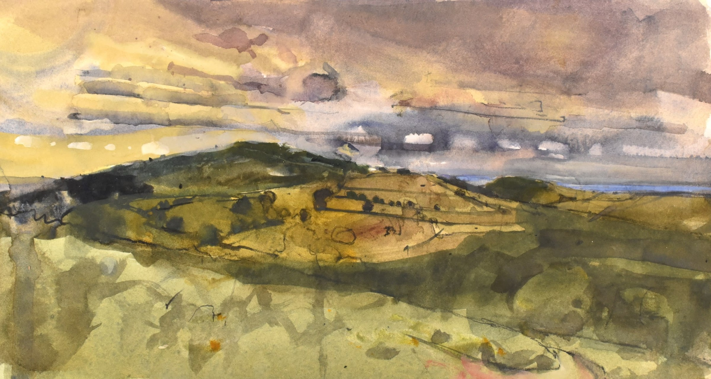 """<span class=""""link fancybox-details-link""""><a href=""""/artists/92-richard-pikesley/works/12132-richard-pikesley-edge-of-dartmoor-rain-coming/"""">View Detail Page</a></span><div class=""""artist""""><span class=""""artist""""><strong>Richard Pikesley</strong></span></div><div class=""""title""""><em>Edge of Dartmoor, Rain Coming</em></div><div class=""""medium"""">watercolour</div><div class=""""dimensions"""">Frame: 40 x 54 cm<br /> Artwork: 20 x 36 cm</div><div class=""""price"""">£750.00</div>"""