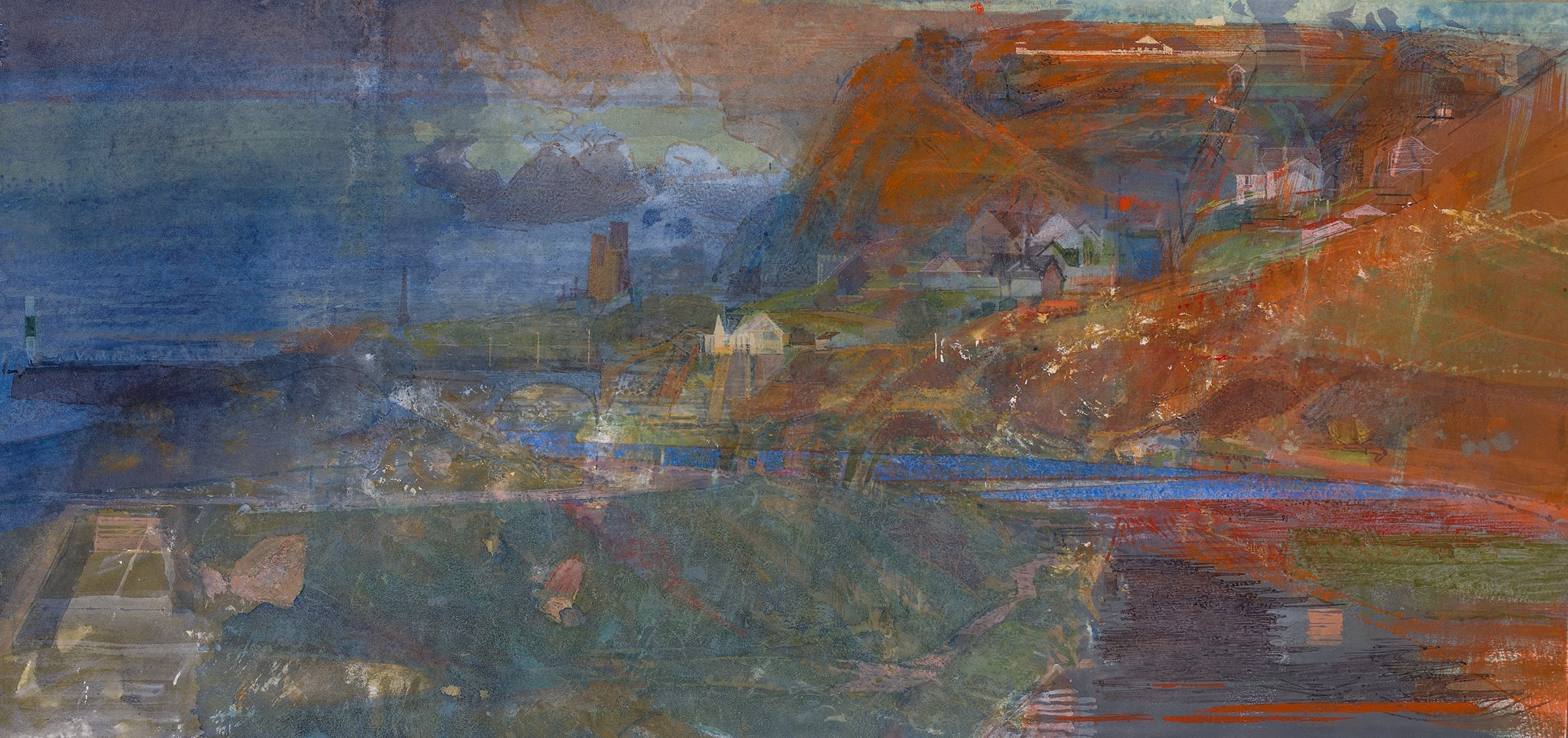 """<span class=""""link fancybox-details-link""""><a href=""""/artists/87-paul-newland/works/11786-paul-newland-near-the-mouth-of-the-ystwyth/"""">View Detail Page</a></span><div class=""""artist""""><span class=""""artist""""><strong>Paul Newland</strong></span></div><div class=""""title""""><em>Near the mouth of the Ystwyth</em></div><div class=""""medium"""">watercolour</div><div class=""""dimensions"""">Frame: 49 x 80 cm<br /> Artwork: 38 x 66 cm</div><div class=""""price"""">£1,850.00</div>"""