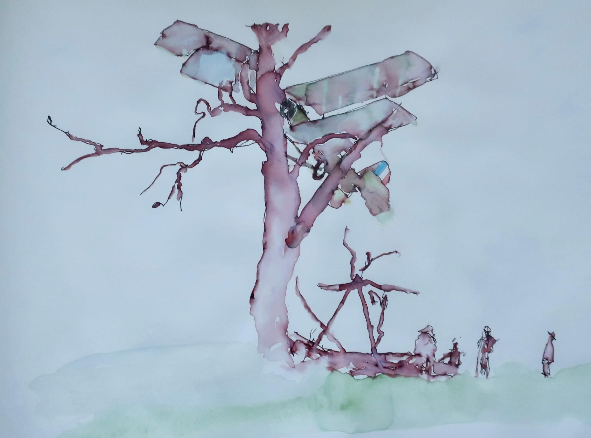 "<span class=""link fancybox-details-link""><a href=""/artists/134-david-hamilton/works/12741-david-hamilton-tree-landing/"">View Detail Page</a></span><div class=""artist""><span class=""artist""><strong>David Hamilton</strong></span></div><div class=""title""><em>Tree Landing</em></div><div class=""medium"">ink & watercolour on paper</div><div class=""dimensions"">Frame: 43 x 53cm<br /> Artwork: 27 x 34cm</div><div class=""price"">£600.00</div>"