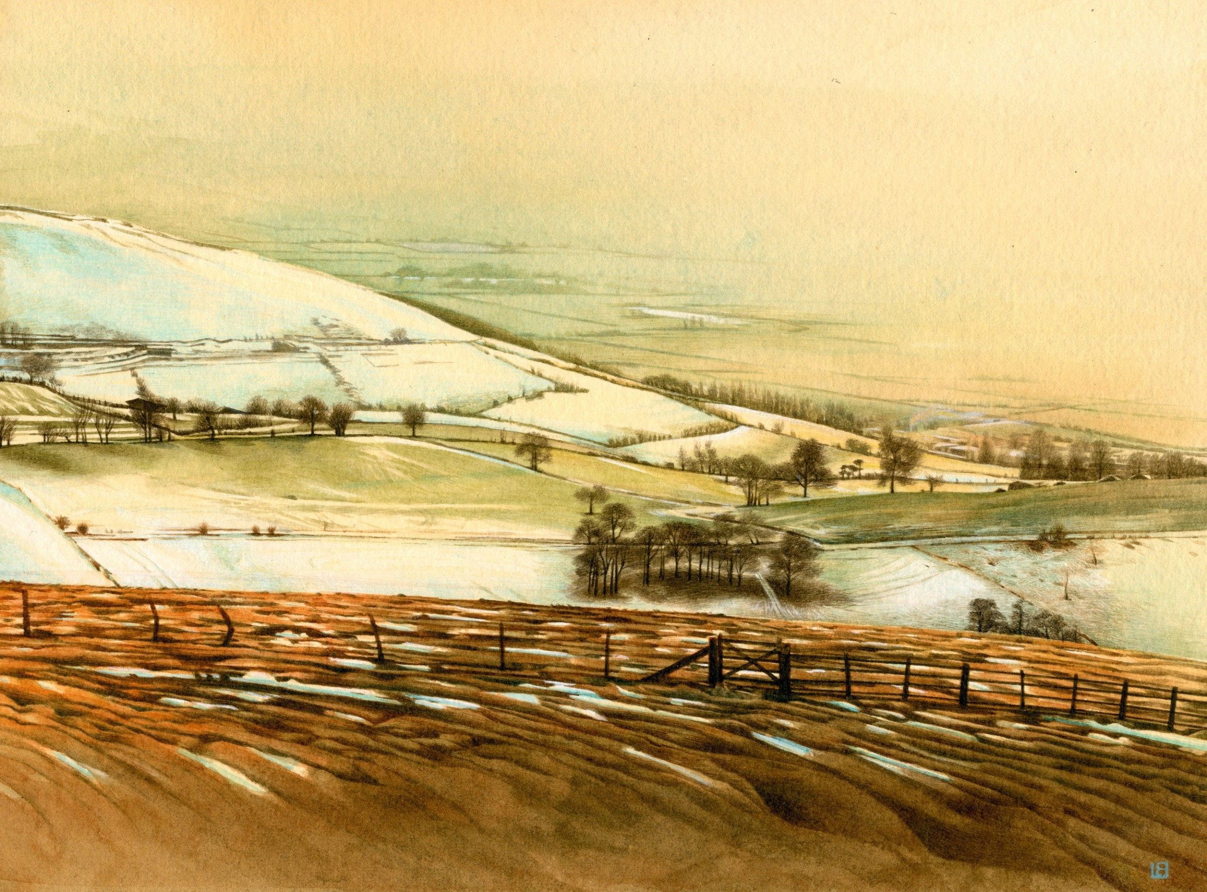"""<span class=""""link fancybox-details-link""""><a href=""""/artists/25-liz-butler/works/12697-liz-butler-view-from-moel-famau-in-the-snow/"""">View Detail Page</a></span><div class=""""artist""""><span class=""""artist""""><strong>Liz Butler</strong></span></div><div class=""""title""""><em>View from Moel Famau in the Snow</em></div><div class=""""medium"""">watercolour</div><div class=""""dimensions"""">Artwork: 22 x 16.5cm</div><div class=""""price"""">£975.00</div>"""