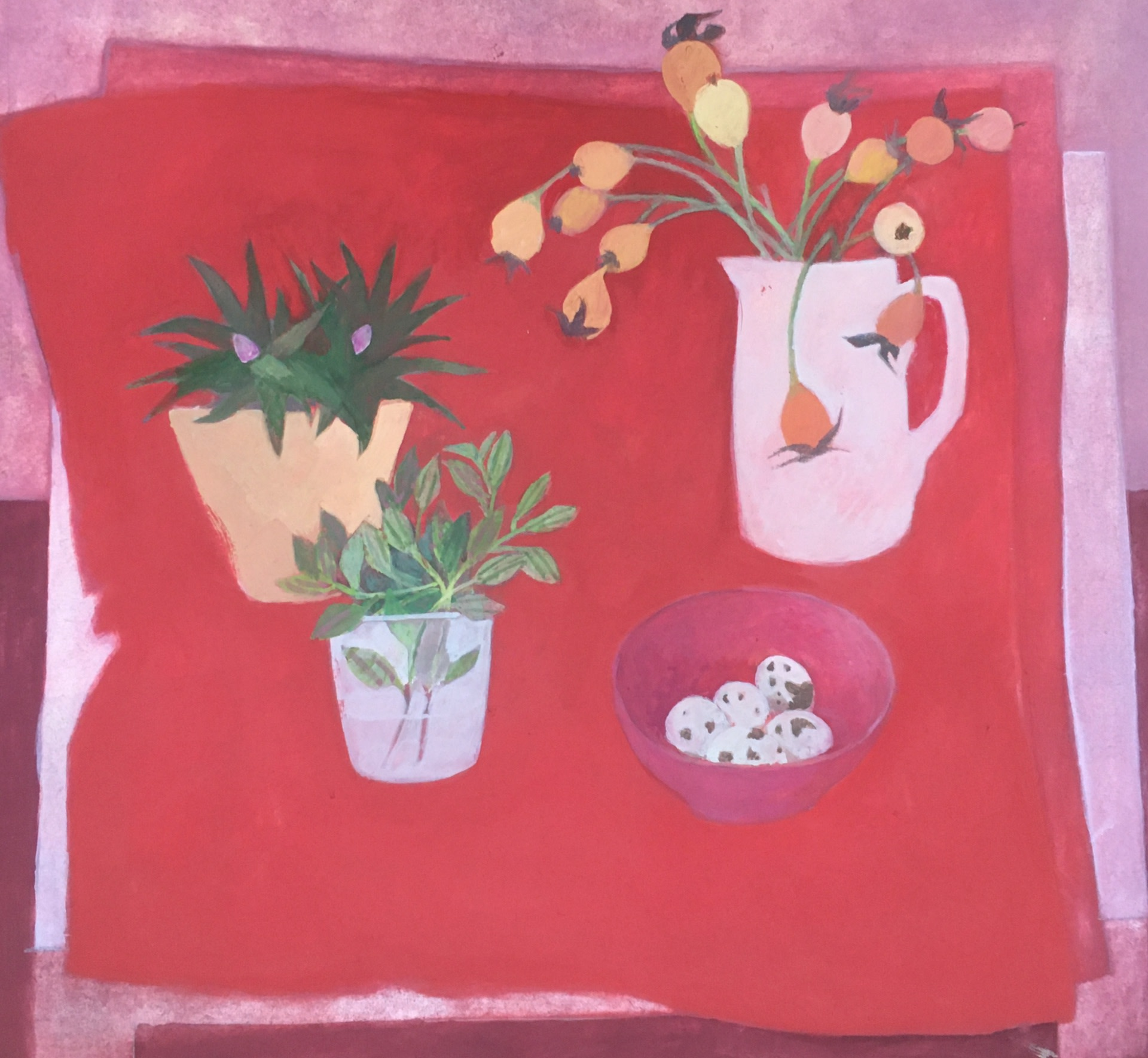 """<span class=""""link fancybox-details-link""""><a href=""""/artists/74-wendy-jacob/works/12633-wendy-jacob-hips-on-a-red-cloth/"""">View Detail Page</a></span><div class=""""artist""""><span class=""""artist""""><strong>Wendy Jacob</strong></span></div><div class=""""title""""><em>Hips on a Red Cloth</em></div><div class=""""medium"""">gouache</div><div class=""""dimensions"""">Artwork: 32 x 28cm</div><div class=""""price"""">£550.00</div>"""
