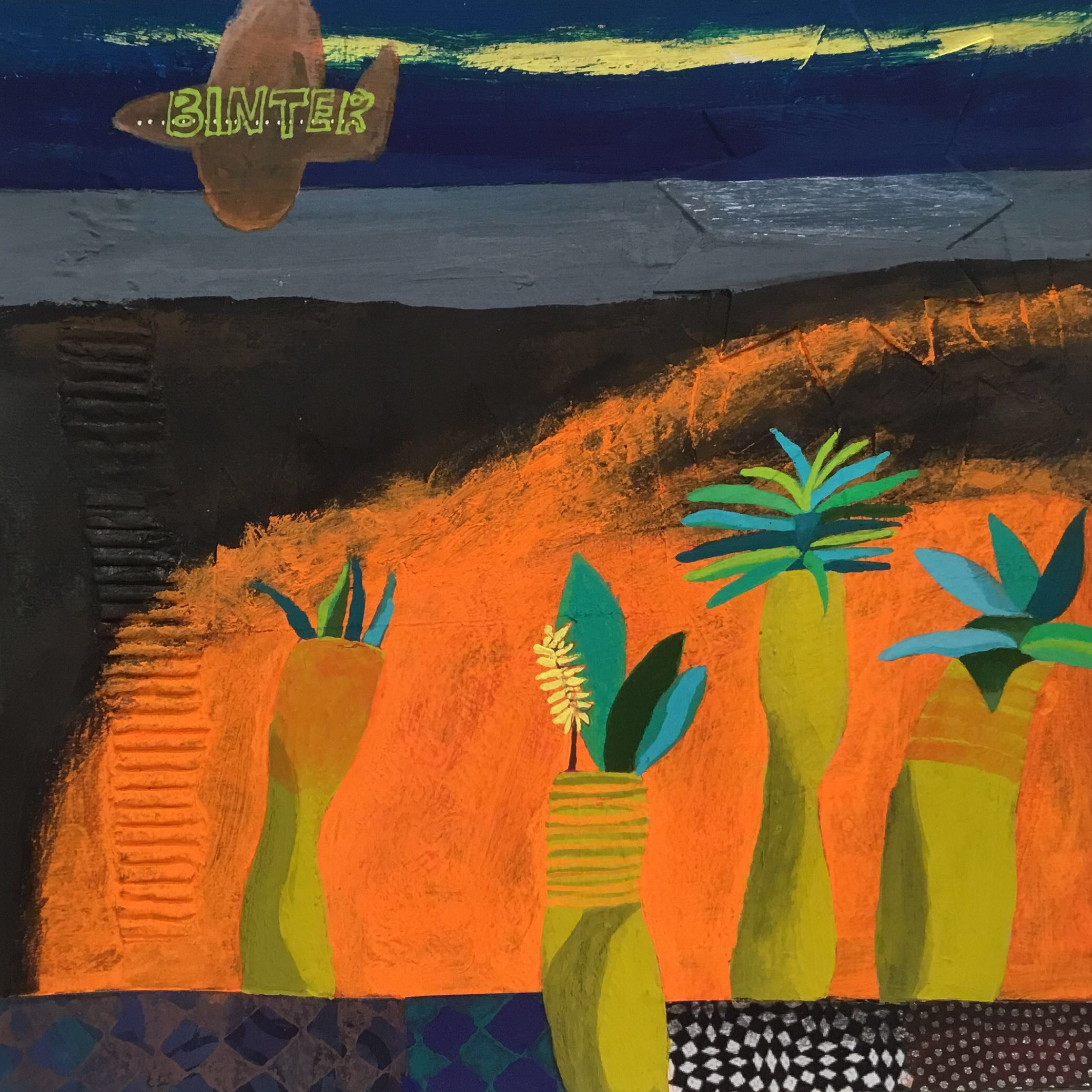 """<span class=""""link fancybox-details-link""""><a href=""""/artists/146-gertie-young/works/11875-gertie-young-connecting-flight-to-la-gomera/"""">View Detail Page</a></span><div class=""""artist""""><span class=""""artist""""><strong>Gertie Young</strong></span></div><div class=""""title""""><em>Connecting Flight to La Gomera</em></div><div class=""""medium"""">watercolour & gouache collage</div><div class=""""dimensions"""">Frame: 31 x 31 cm<br /> Artwork: 20 x 20 cm</div><div class=""""price"""">£320.00</div>"""