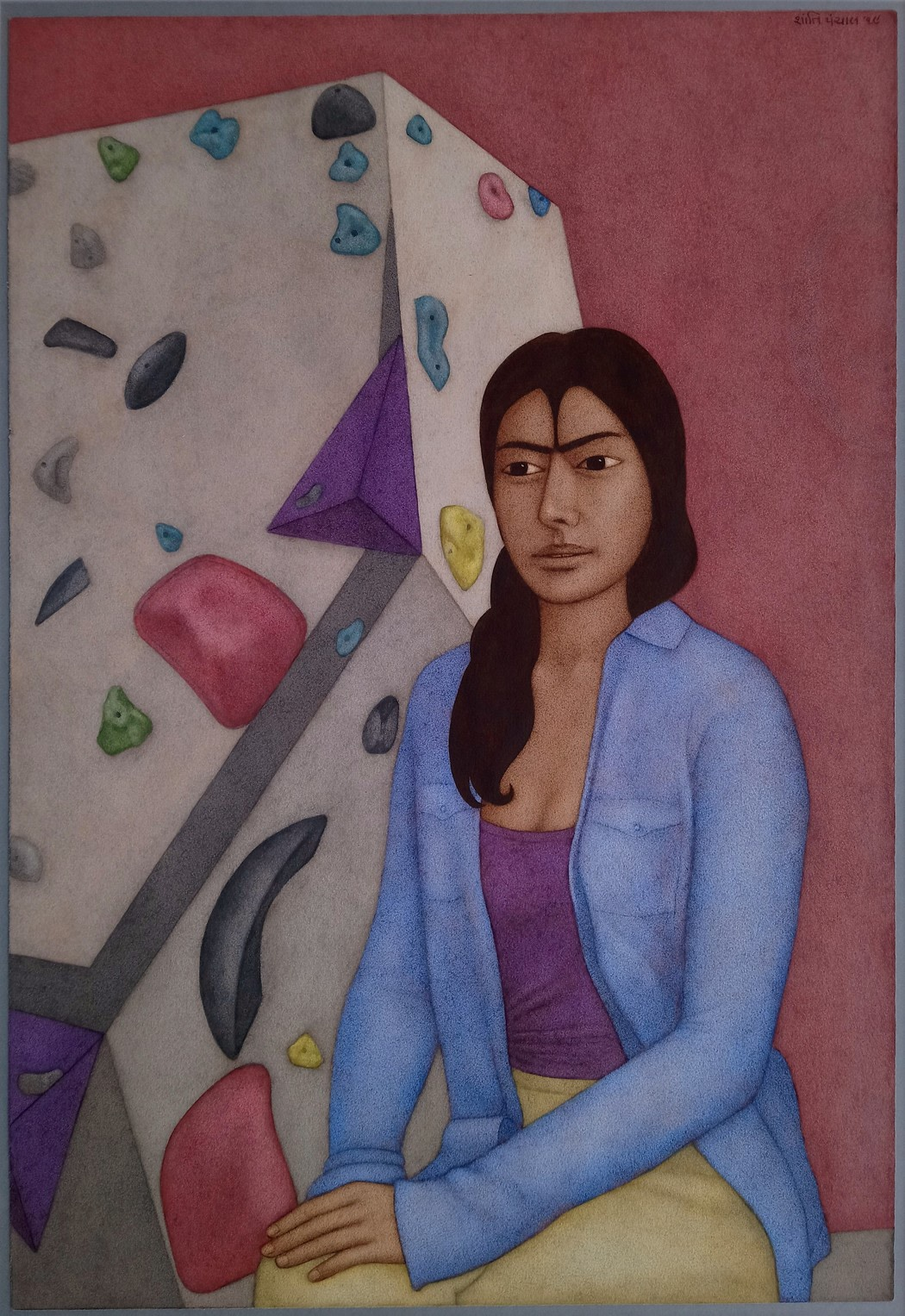 """<span class=""""link fancybox-details-link""""><a href=""""/artists/157-shanti-panchal/works/12337-shanti-panchal-hwa-in-s-moon-2019/"""">View Detail Page</a></span><div class=""""artist""""><span class=""""artist""""><strong>Shanti Panchal</strong></span></div><div class=""""title""""><em>Hwa In's Moon 2019</em></div><div class=""""medium"""">watercolour</div><div class=""""dimensions"""">Frame: 84 x 62cm<br /> Artwork: 66 x 46cm</div><div class=""""price"""">£6,700.00</div>"""