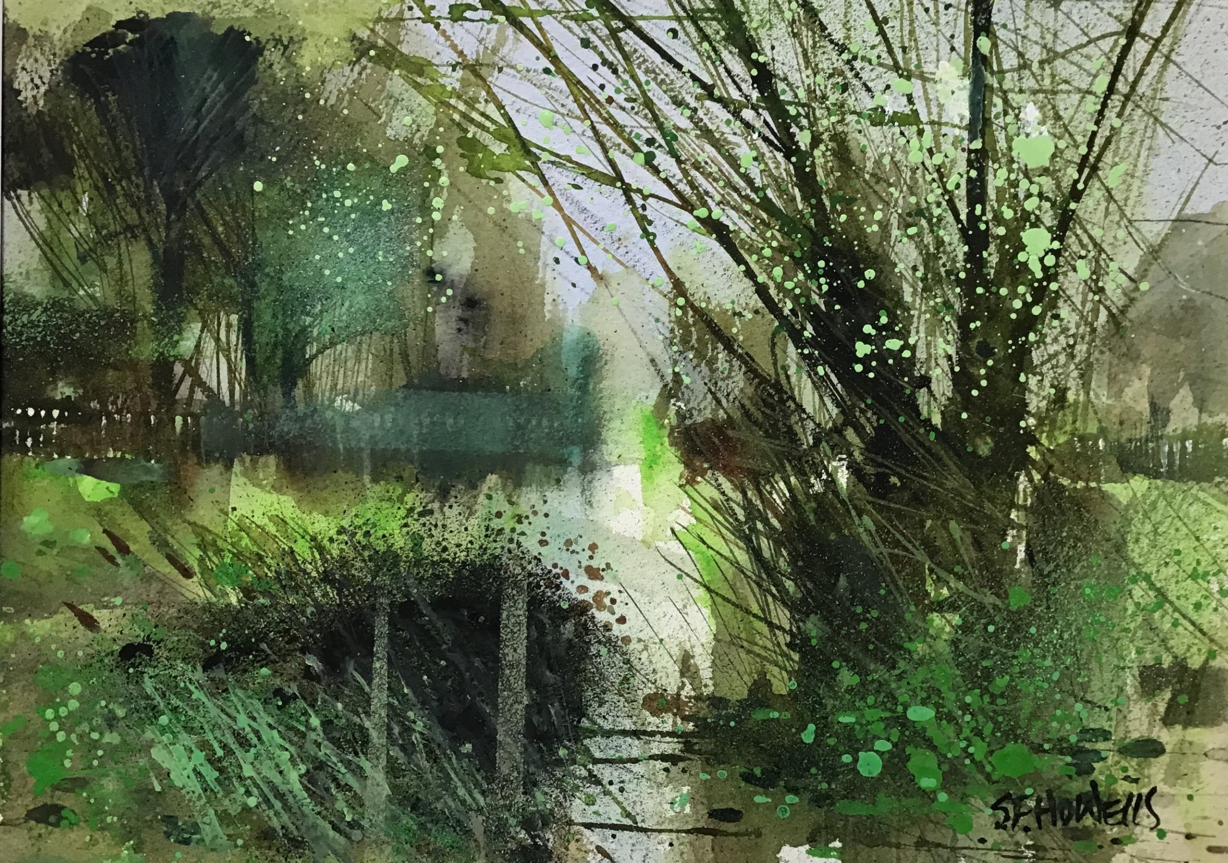 """<span class=""""link fancybox-details-link""""><a href=""""/artists/136-sue-howells/works/12235-sue-howells-banks-of-green-willow/"""">View Detail Page</a></span><div class=""""artist""""><span class=""""artist""""><strong>Sue Howells</strong></span></div><div class=""""title""""><em>Banks of Green Willow</em></div><div class=""""medium"""">watercolour</div><div class=""""dimensions"""">Frame: 42 x 32 cm<br /> Artwork: 24 x 34 cm</div><div class=""""price"""">£400.00</div>"""