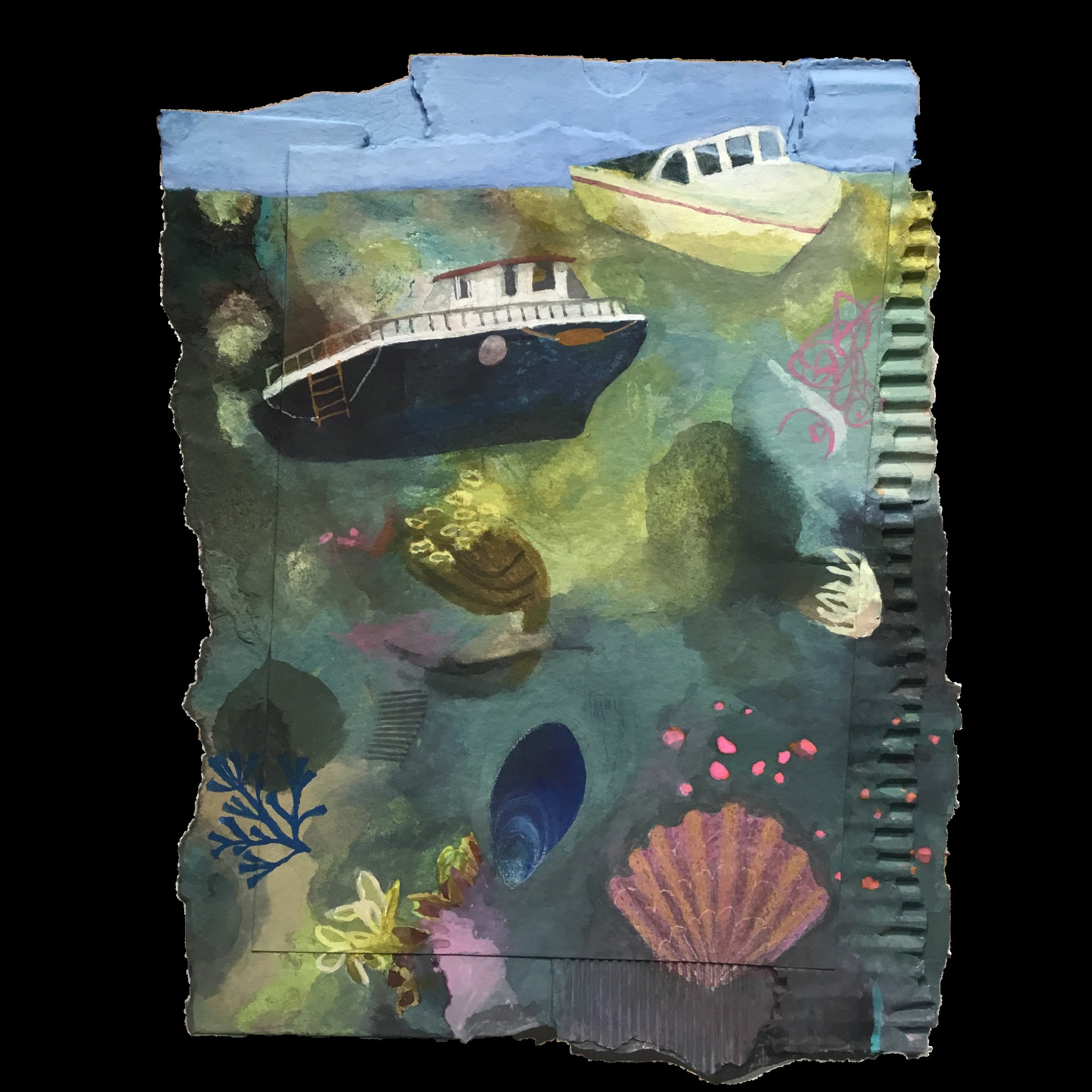"""<span class=""""link fancybox-details-link""""><a href=""""/artists/146-gertie-young/works/12334-gertie-young-low-tide-at-whitstable/"""">View Detail Page</a></span><div class=""""artist""""><span class=""""artist""""><strong>Gertie Young</strong></span></div><div class=""""title""""><em>Low Tide at Whitstable</em></div><div class=""""medium"""">acrylic collage</div><div class=""""dimensions"""">Frame: 36 x 28 cm<br /> Artwork: 26 x 18 cm</div><div class=""""price"""">£250.00</div>"""