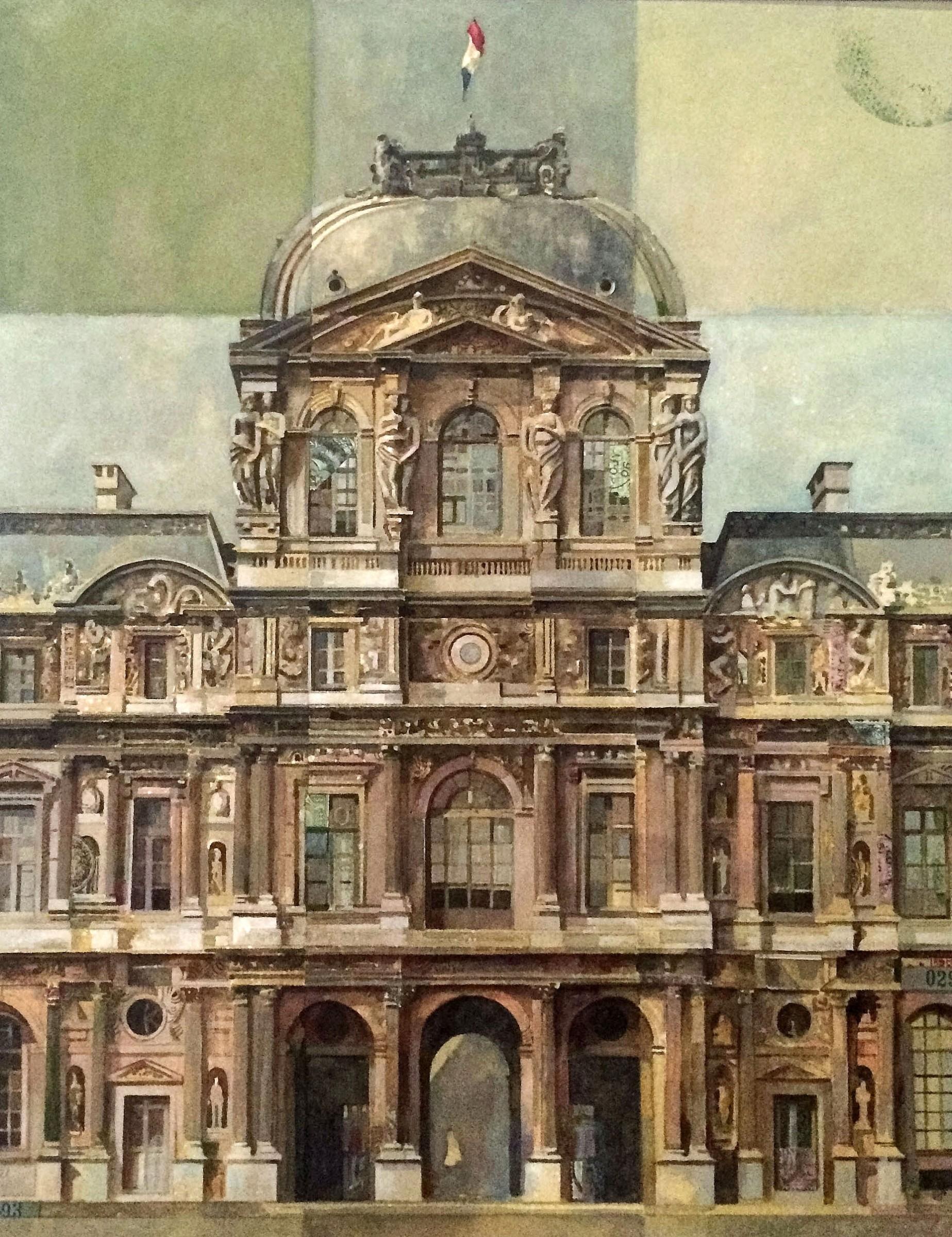 <span class=&#34;link fancybox-details-link&#34;><a href=&#34;/exhibitions/24/works/artworks_standalone10790/&#34;>View Detail Page</a></span><div class=&#34;artist&#34;><span class=&#34;artist&#34;><strong>Stuart Robertson</strong></span></div><div class=&#34;title&#34;><em>Pavillon Sully du Louvre</em></div><div class=&#34;medium&#34;>watercolour, gouache & collage</div><div class=&#34;dimensions&#34;>70x60cm</div>