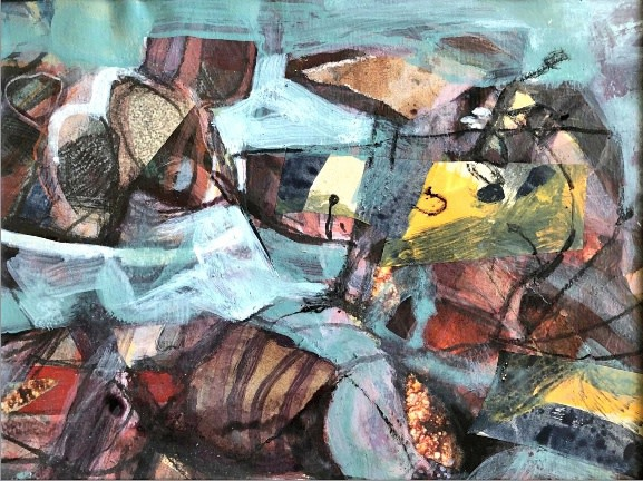 """<span class=""""link fancybox-details-link""""><a href=""""/artists/31-mark-raggett/works/12469-mark-raggett-small-abstract/"""">View Detail Page</a></span><div class=""""artist""""><span class=""""artist""""><strong>Mark Raggett</strong></span></div><div class=""""title""""><em>Small Abstract</em></div><div class=""""medium"""">mixed media on paper</div><div class=""""dimensions"""">Frame: 31 x 36 cm<br /> Artwork: 15 x 20 cm</div><div class=""""price"""">£420.00</div>"""