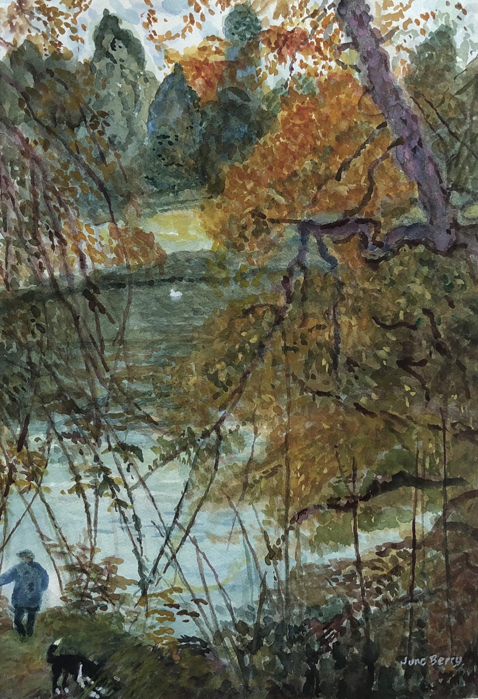 "<span class=""link fancybox-details-link""><a href=""/artists/40-june-berry/works/12016-june-berry-autumn-by-the-lake/"">View Detail Page</a></span><div class=""artist""><span class=""artist""><strong>June Berry</strong></span></div><div class=""title""><em>Autumn by the Lake</em></div><div class=""medium"">watercolour</div><div class=""dimensions"">Frame: 63.5 x 50.8 cm<br /> Artwork: 58.4 x 45.7 cm</div><div class=""price"">£950.00</div>"
