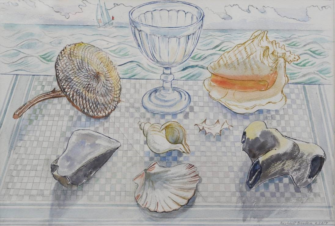 <span class=&#34;link fancybox-details-link&#34;><a href=&#34;/artists/38-richard-bawden/works/10215-richard-bawden-objet-trouve-by-the-sea/&#34;>View Detail Page</a></span><div class=&#34;artist&#34;><span class=&#34;artist&#34;><strong>Richard Bawden</strong></span></div>