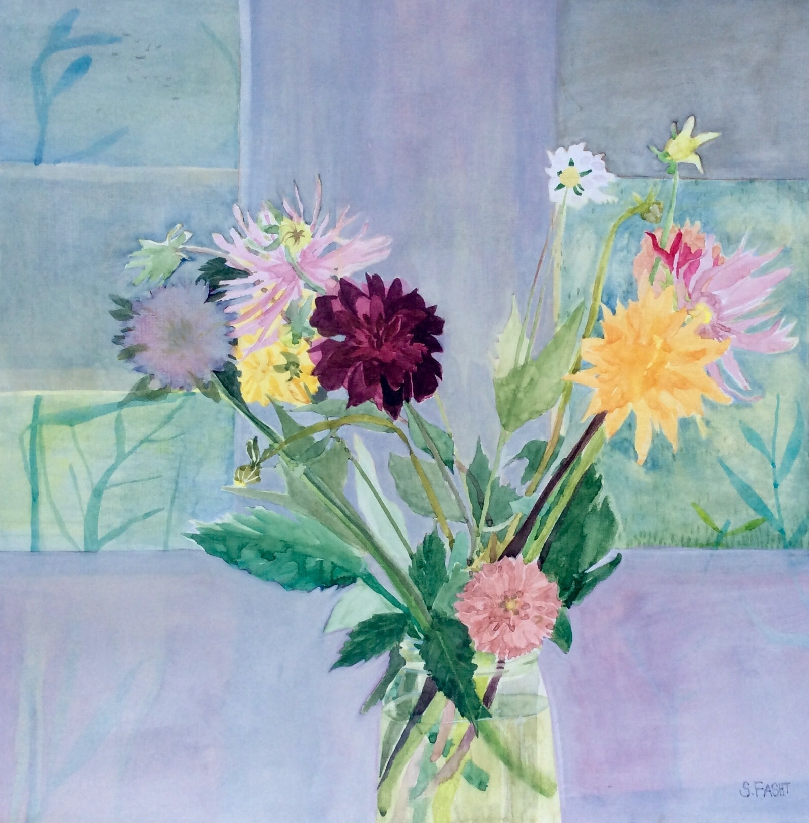 """<span class=""""link fancybox-details-link""""><a href=""""/artists/168-suzy-fasht/works/11388-suzy-fasht-flowers-from-the-cutting-garden/"""">View Detail Page</a></span><div class=""""artist""""><span class=""""artist""""><strong>Suzy Fasht</strong></span></div><div class=""""title""""><em>Flowers from the Cutting Garden</em></div><div class=""""medium"""">watercolour</div><div class=""""price"""">£550.00</div>"""