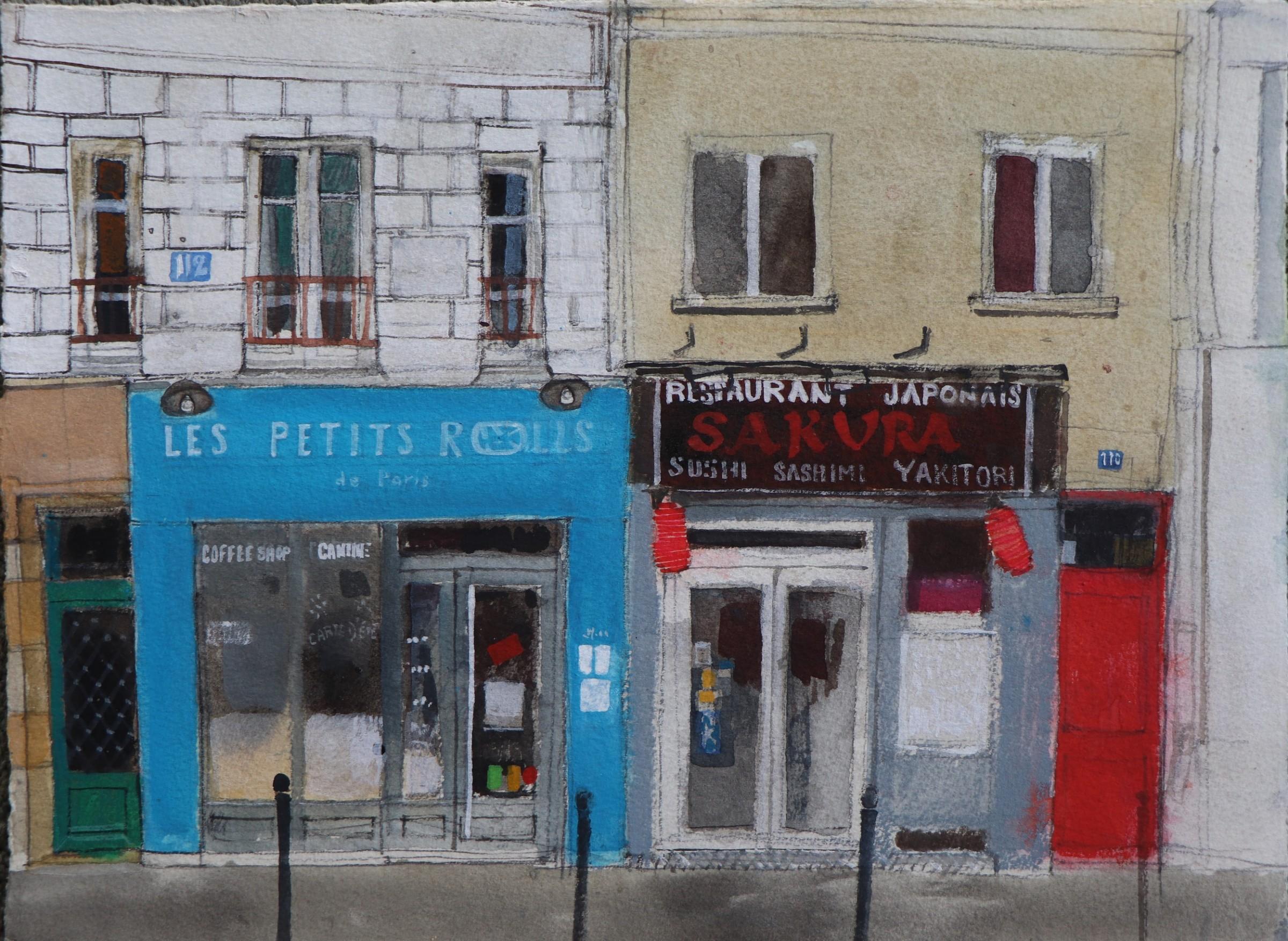 "<span class=""link fancybox-details-link""><a href=""/artists/96-peter-quinn/works/12655-peter-quinn-coffee-and-sushi-paris/"">View Detail Page</a></span><div class=""artist""><span class=""artist""><strong>Peter Quinn</strong></span></div><div class=""title""><em>Coffee and Sushi, Paris</em></div><div class=""medium"">watercolour on paper</div><div class=""dimensions"">Artwork: 38 x 28cm</div><div class=""price"">£625.00</div>"
