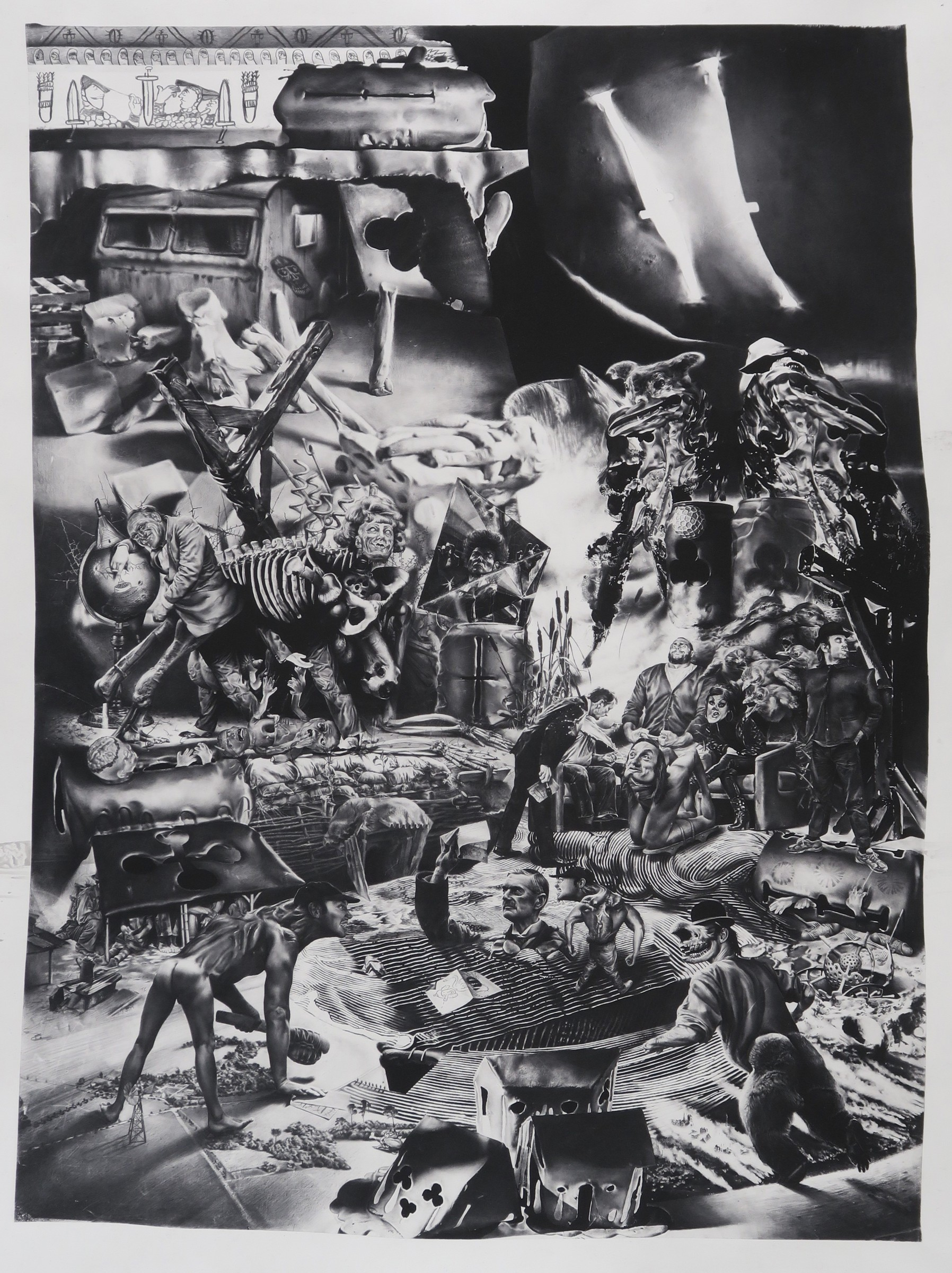 <span class=&#34;link fancybox-details-link&#34;><a href=&#34;/exhibitions/98/works/image2066/&#34;>View Detail Page</a></span><div id=&#34;artwork-panel-details&#34; class=&#34;standard-artwork-details&#34;><div class=&#34;artist&#34;><strong>Robert McNally</strong></div><div class=&#34;title&#34;><em>2016 &#196;nnus Horribilis</em>, 2017</div><div class=&#34;medium&#34;>Photogravure on Hahnem&#252;hle paper</div><div class=&#34;dimensions&#34;>92.5 x 71.3 cm<br /> 36 3/8 x 28 1/8 in<br /> Framed</div><div class=&#34;edition_details&#34;>Edition of 12, #1/12</div></div>