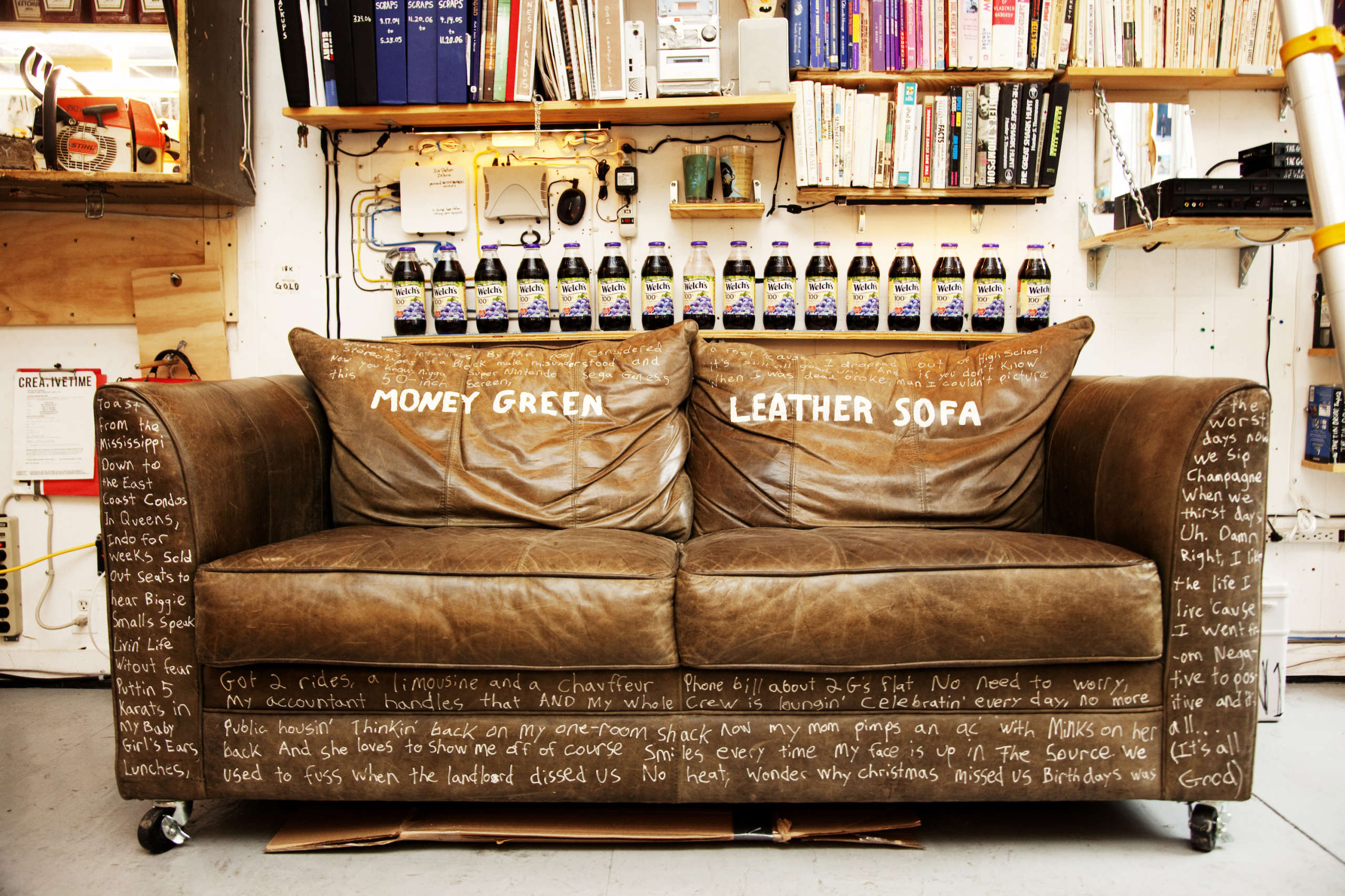 Todd Selby, Van and Caseys Money Green Leather Sofa, 2009 - Artwork ...