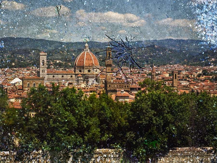 Abelardo Morell Tent Camera Image On Ground View Of Florence From